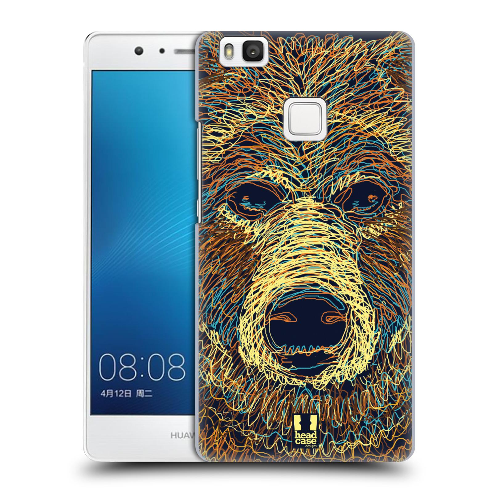 HEAD CASE plastový obal na mobil Huawei P9 LITE / P9 LITE DUAL SIM vzor zvíře čmáranice medvěd