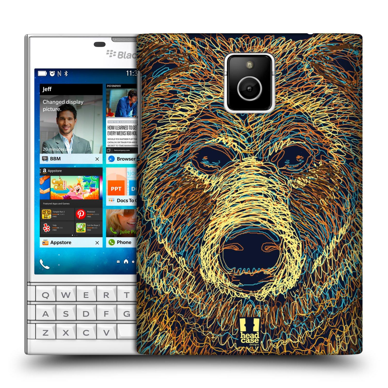 HEAD CASE plastový obal na mobil BlackBerry Passport vzor zvíře čmáranice medvěd
