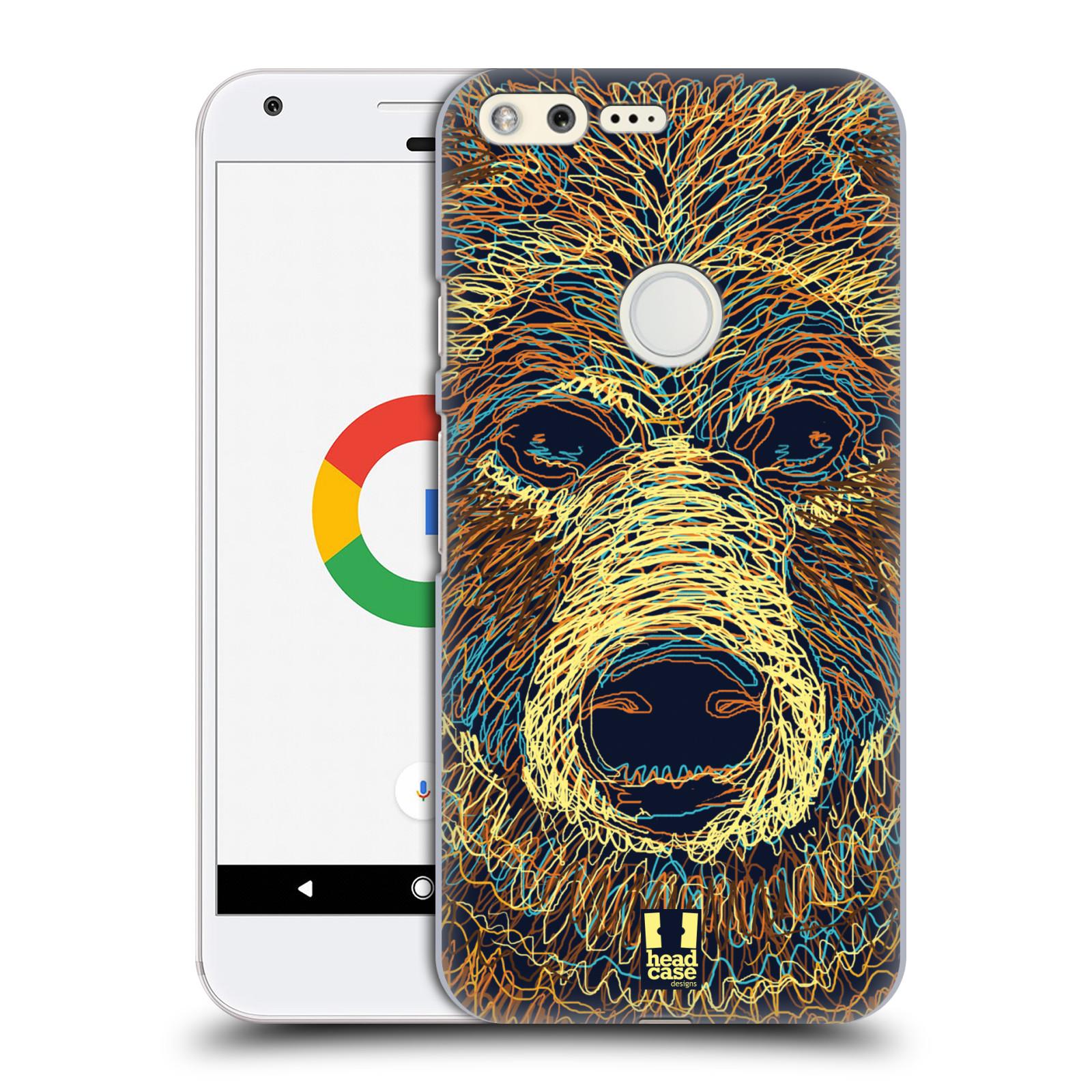 HEAD CASE plastový obal na mobil GOOGLE Pixel vzor zvíře čmáranice medvěd