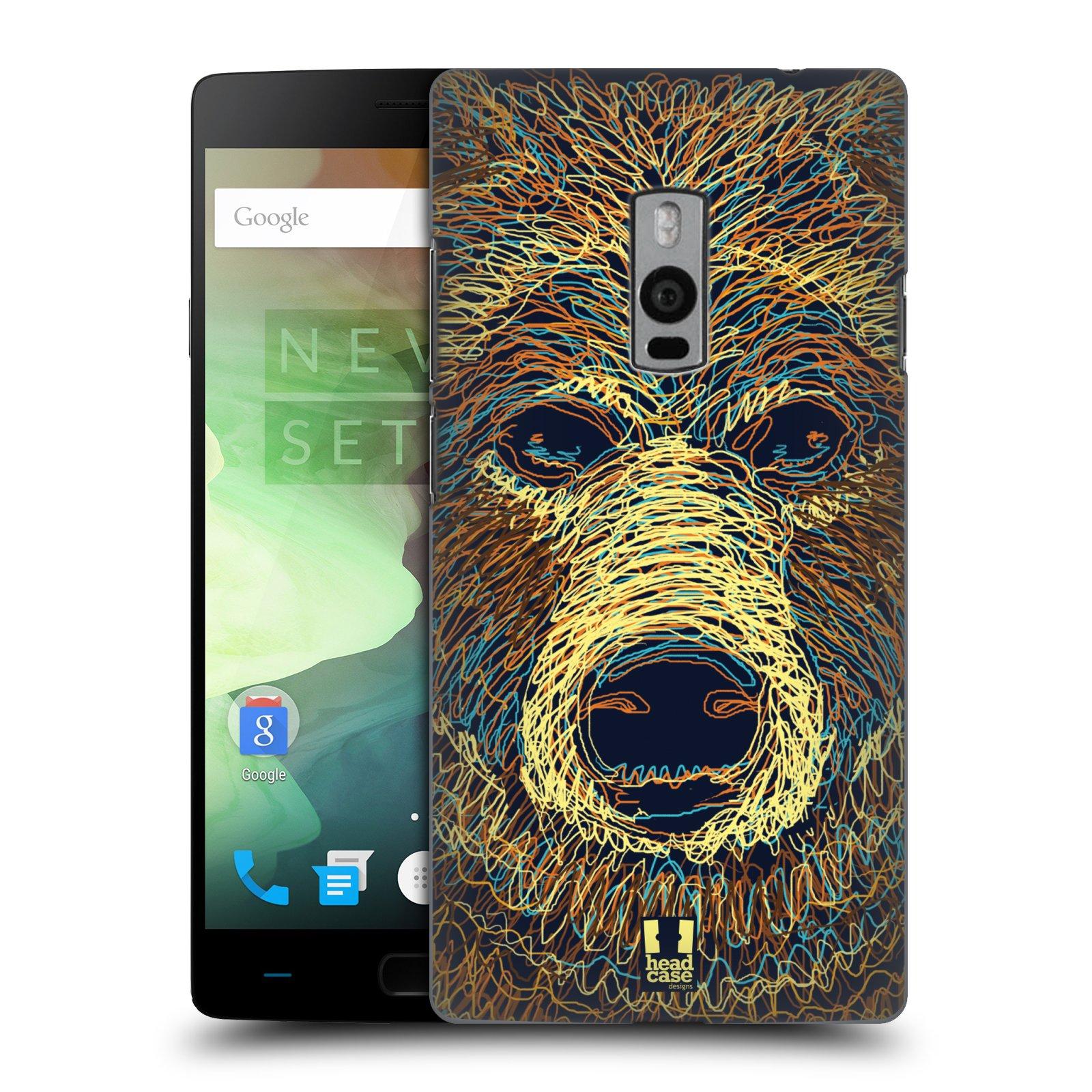 HEAD CASE pevný plastový obal na mobil OnePlus 2  ( TWO ) vzor zvíře čmáranice medvěd