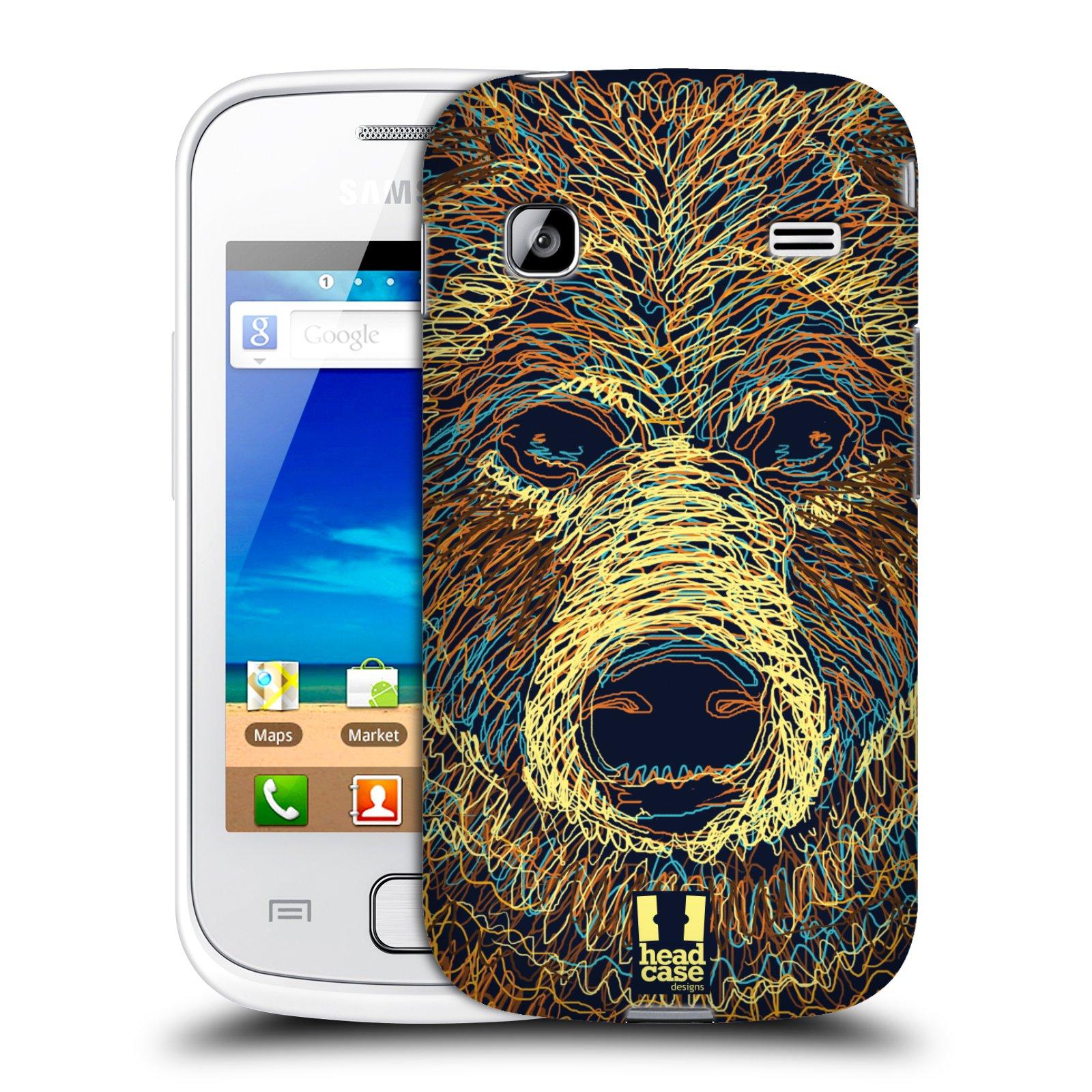 HEAD CASE plastový obal na mobil SAMSUNG GALAXY GIO (S5660) vzor zvíře čmáranice medvěd