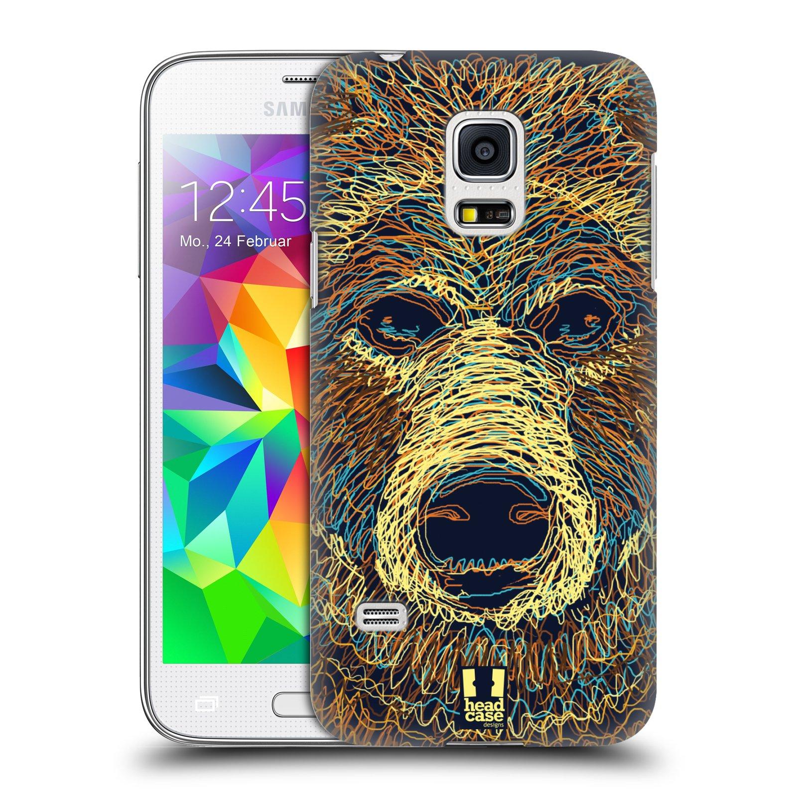 HEAD CASE plastový obal na mobil SAMSUNG Galaxy S5 MINI / S5 MINI DUOS vzor zvíře čmáranice medvěd