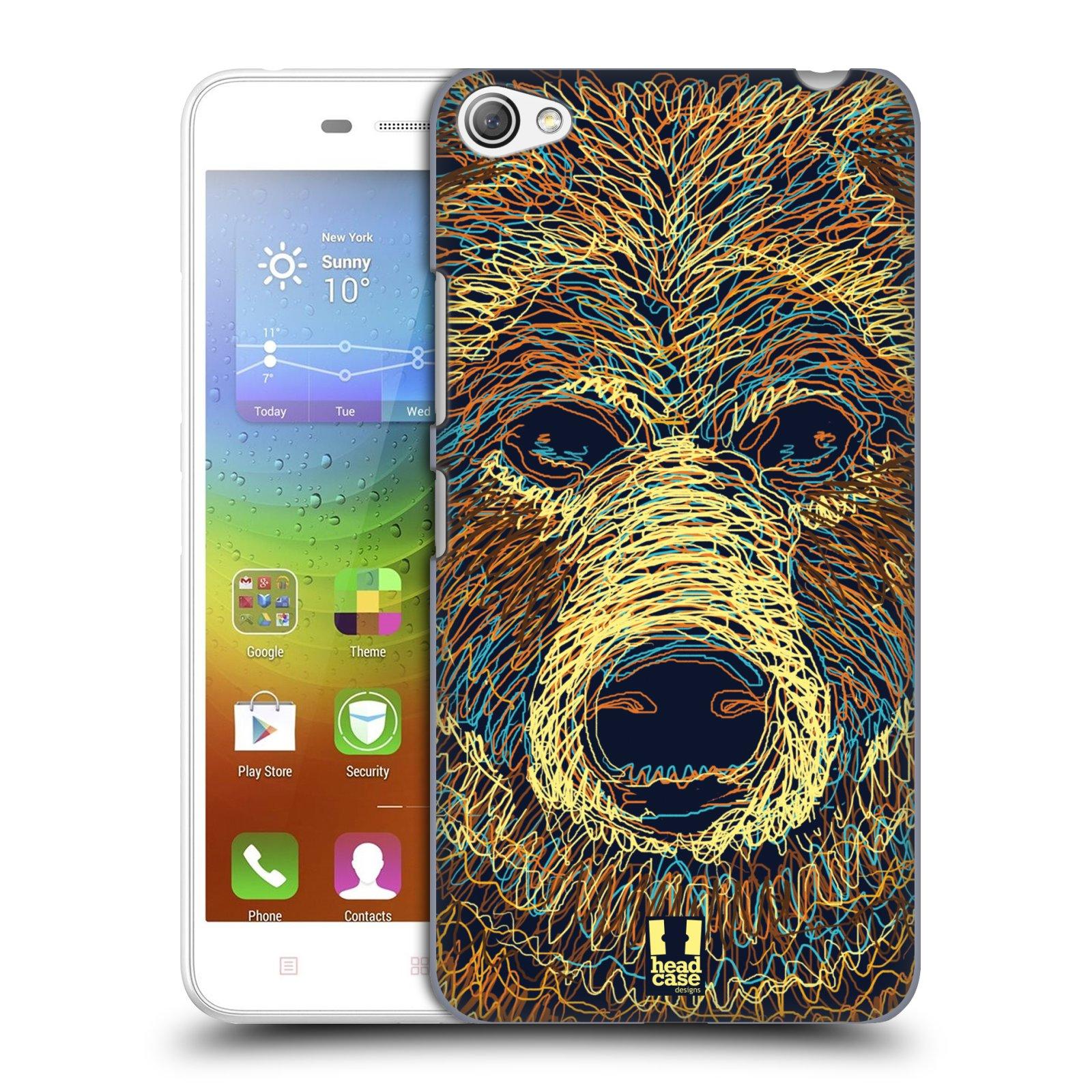 HEAD CASE pevný plastový obal na mobil LENOVO S60 / LENOVO S60 DUAL SIM vzor zvíře čmáranice medvěd