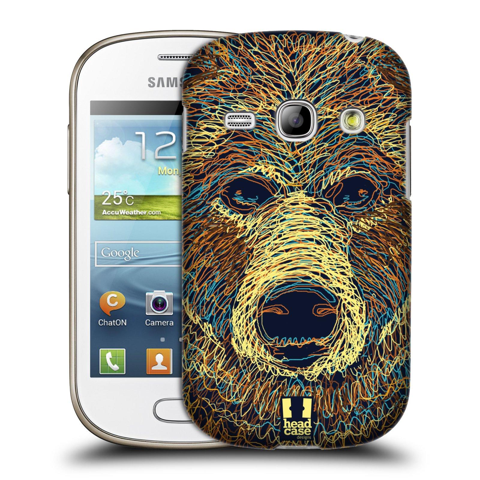 HEAD CASE plastový obal na mobil SAMSUNG GALAXY FAME (S6810) vzor zvíře čmáranice medvěd
