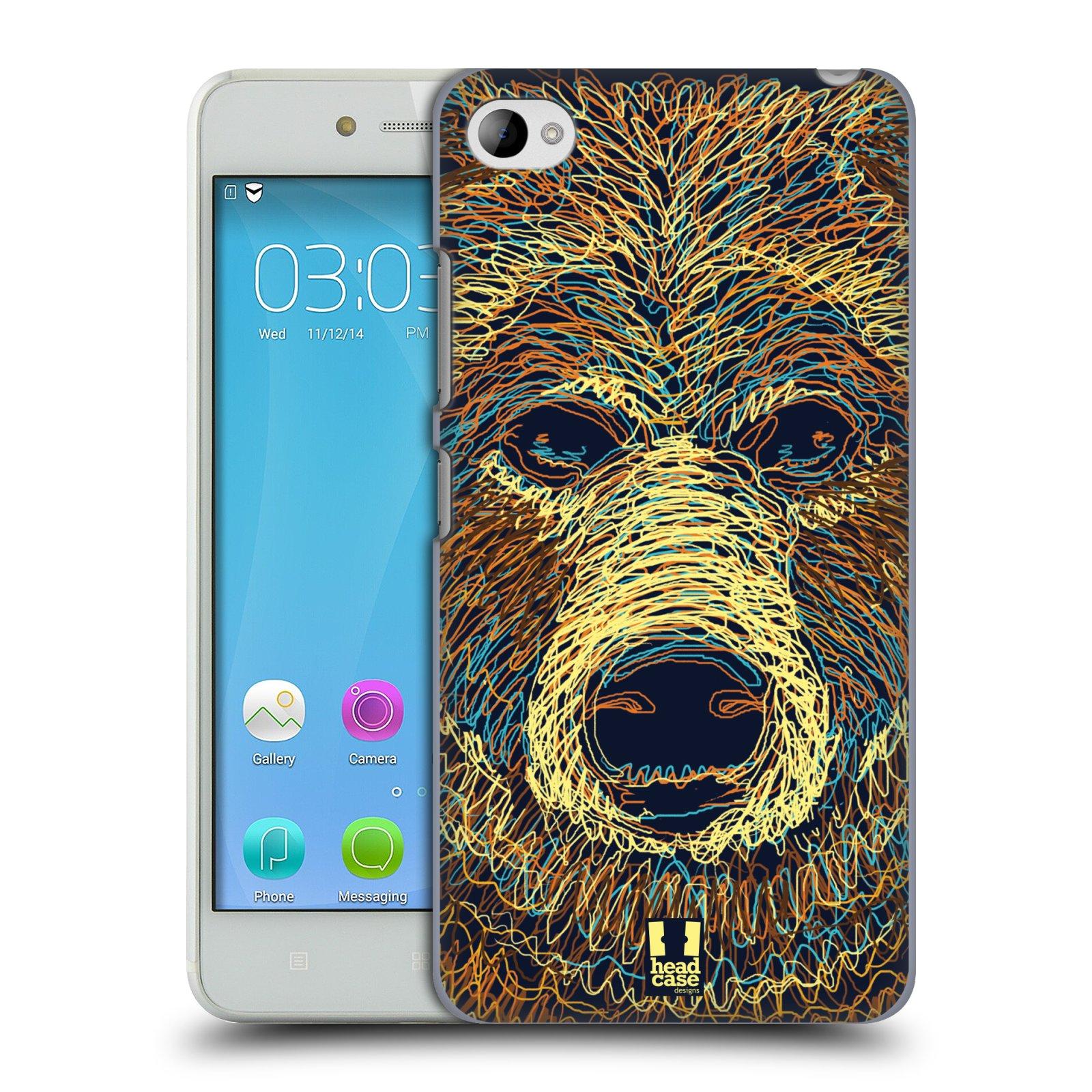 HEAD CASE pevný plastový obal na mobil LENOVO S90 vzor zvíře čmáranice medvěd