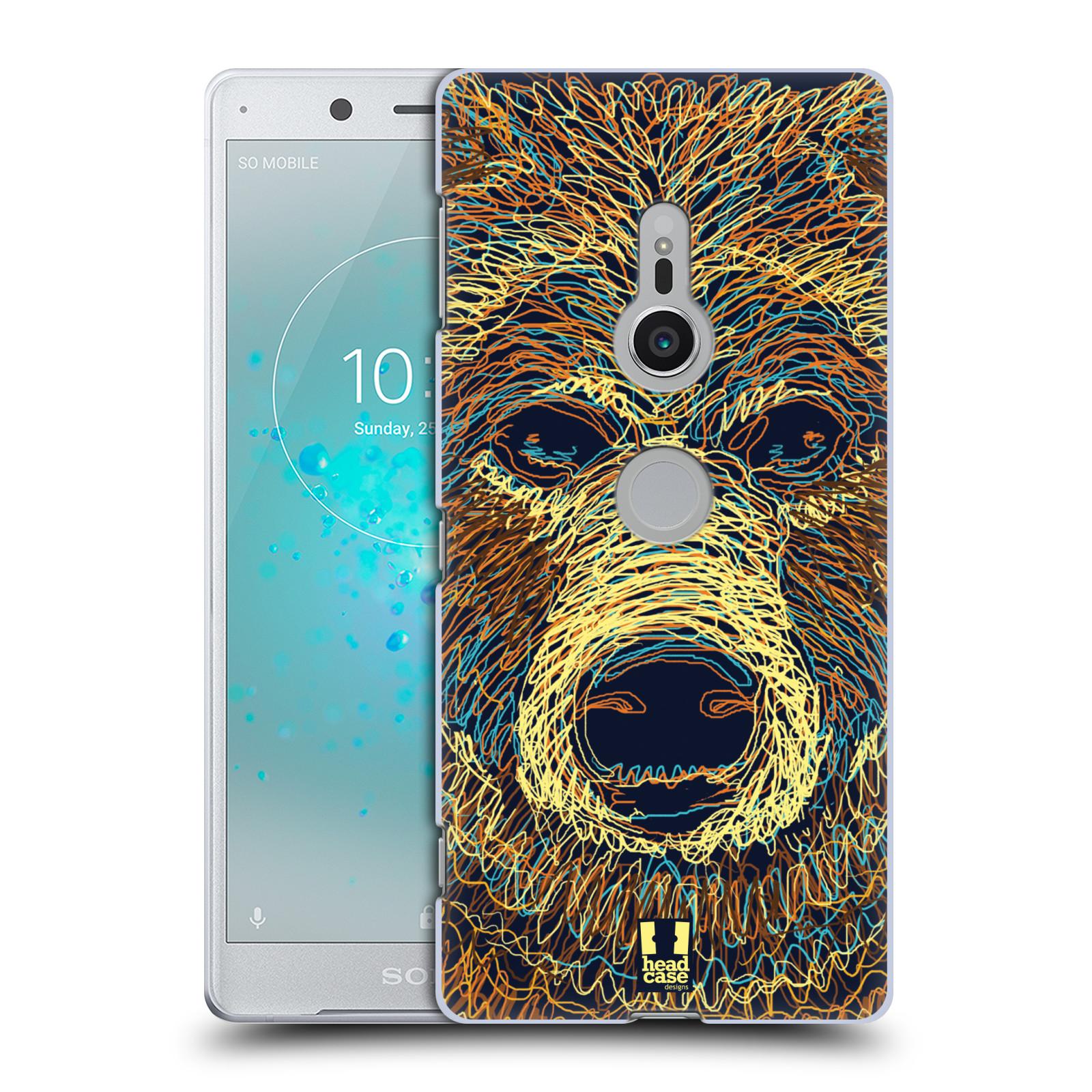 HEAD CASE plastový obal na mobil Sony Xperia XZ2 vzor zvíře čmáranice medvěd