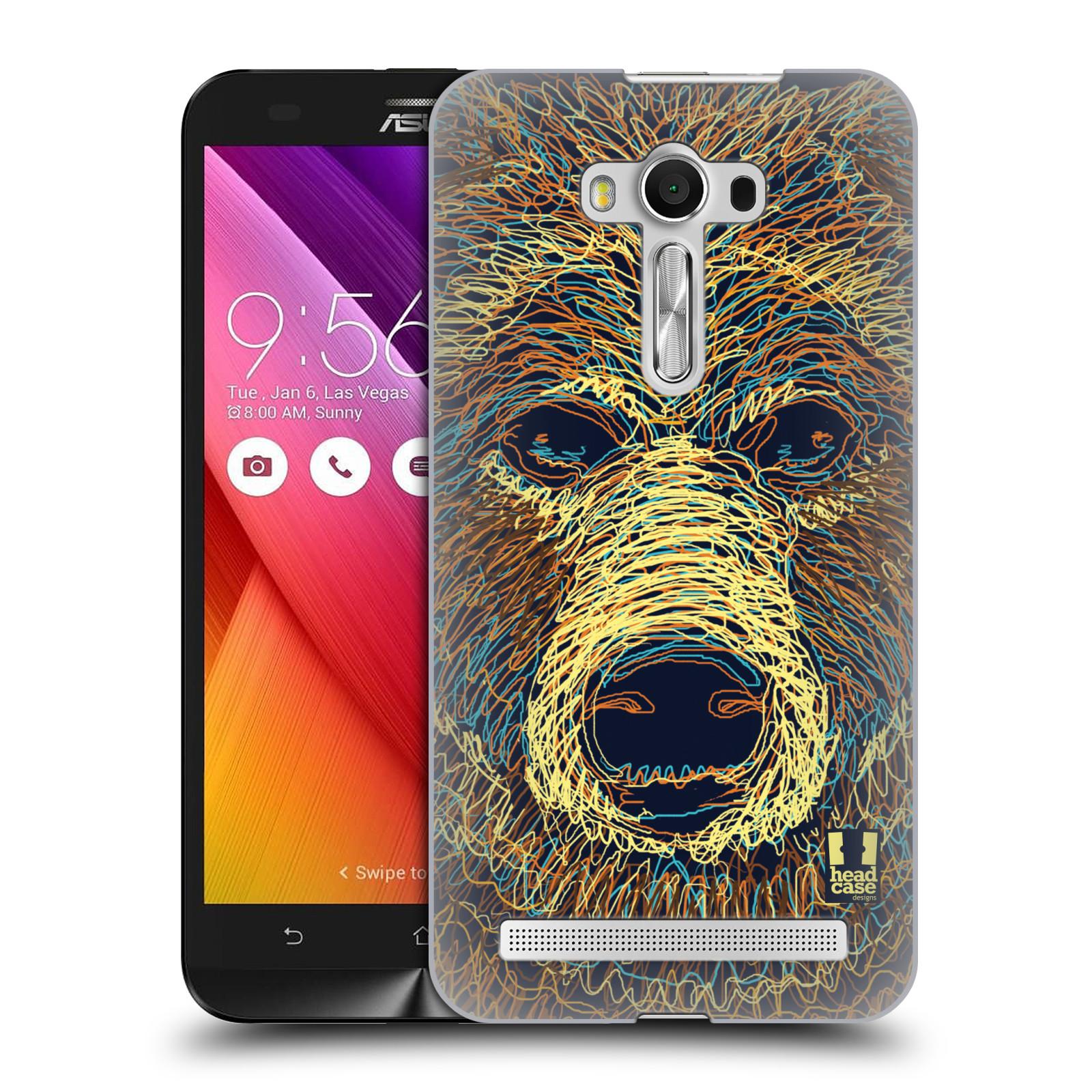 HEAD CASE plastový obal na mobil Asus Zenfone 2 LASER (5,5 displej ZE550KL) vzor zvíře čmáranice medvěd