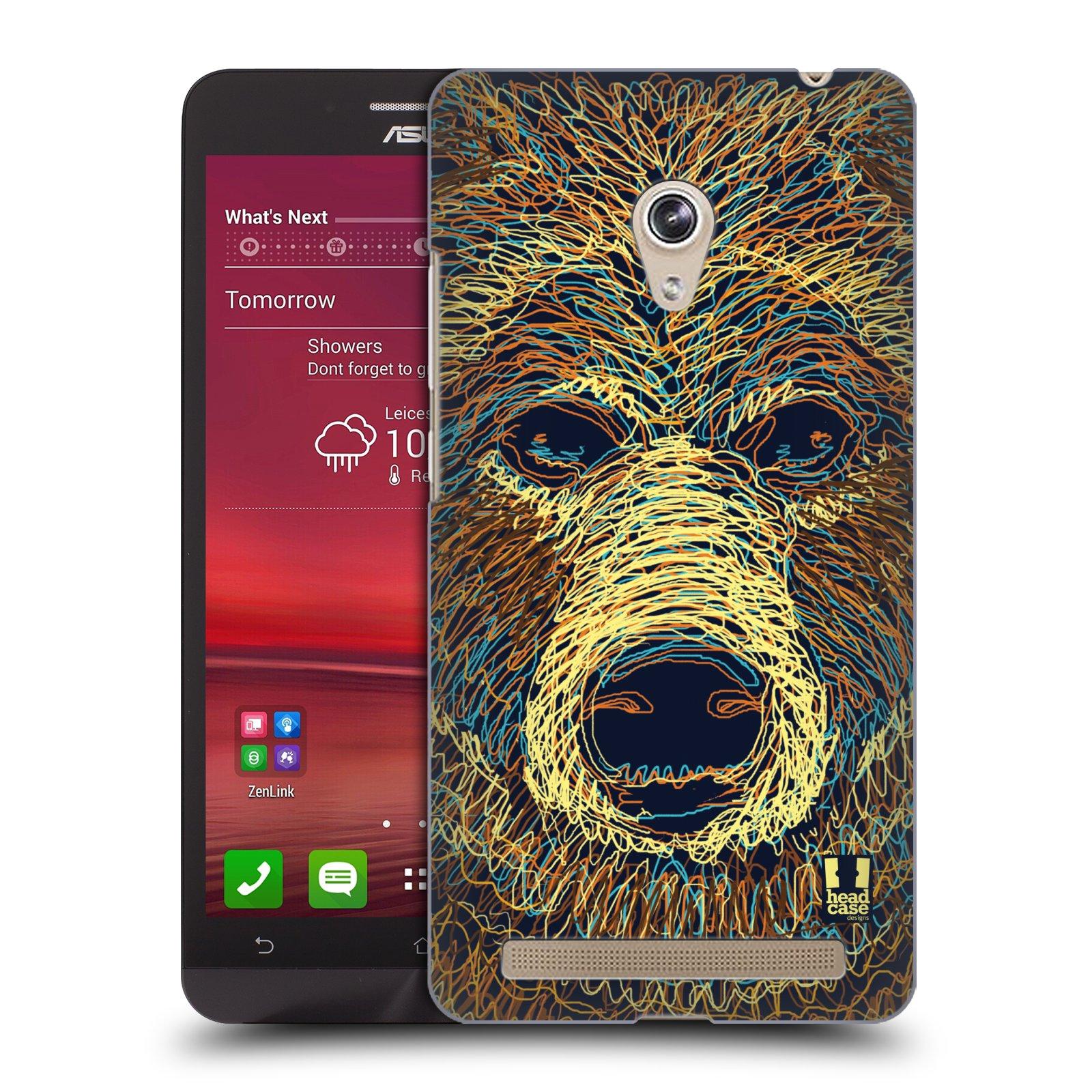 HEAD CASE plastový obal na mobil Asus Zenfone 6 vzor zvíře čmáranice medvěd