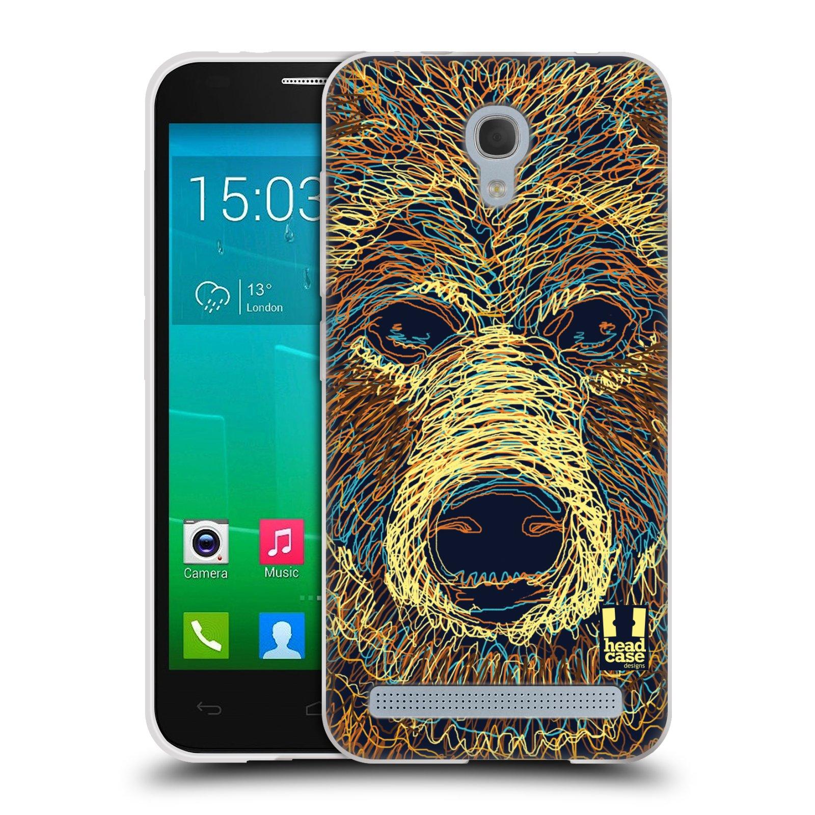 HEAD CASE silikonový obal na mobil Alcatel Idol 2 MINI S 6036Y vzor zvíře čmáranice medvěd