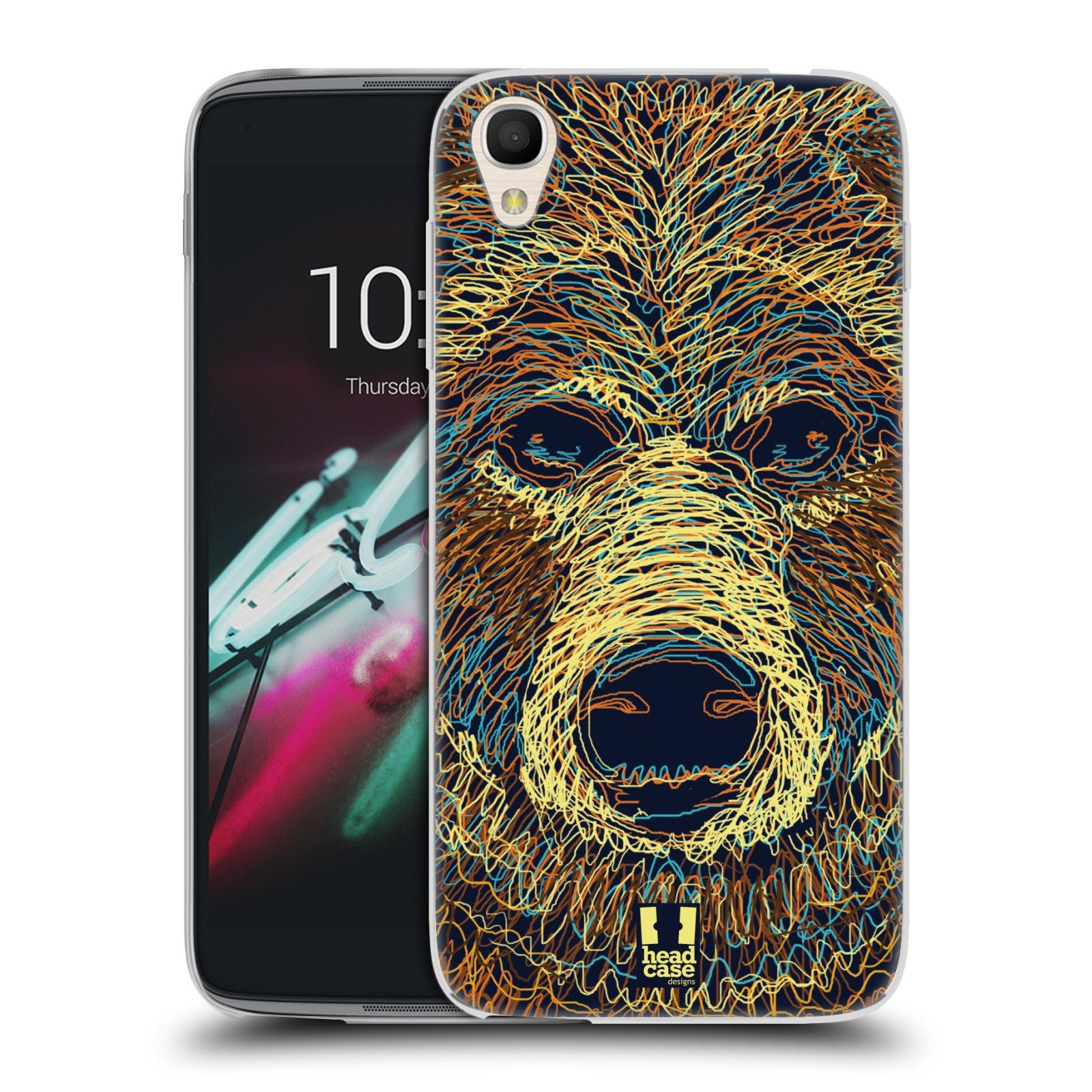 HEAD CASE silikonový obal na mobil Alcatel Idol 3 OT-6039Y (4.7) vzor zvíře čmáranice medvěd