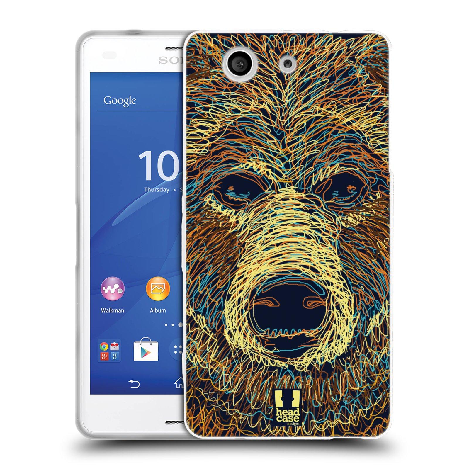 HEAD CASE silikonový obal na mobil Sony Xperia Z3 COMPACT (D5803) vzor zvíře čmáranice medvěd