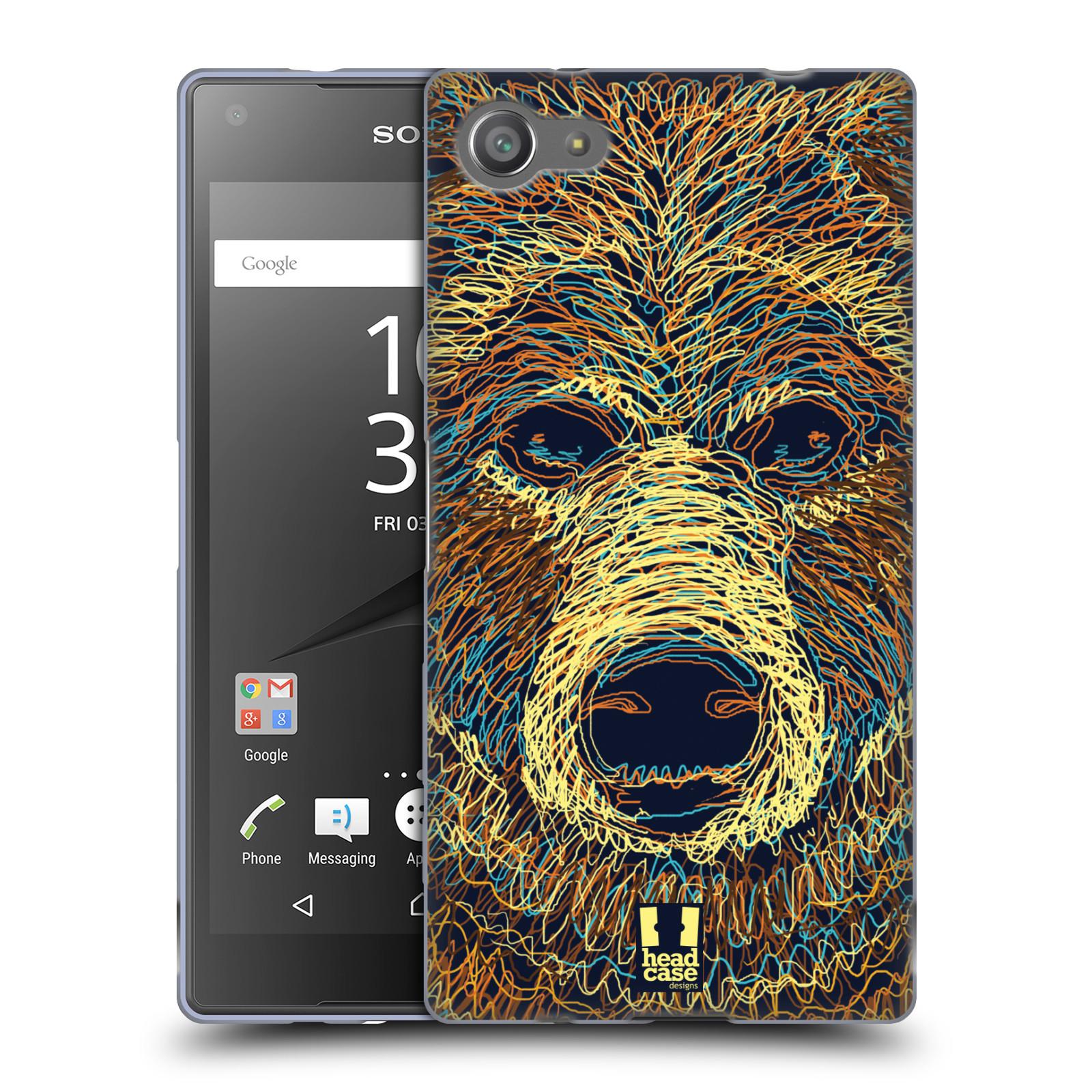 HEAD CASE silikonový obal na mobil Sony Xperia Z5 COMPACT vzor zvíře čmáranice medvěd