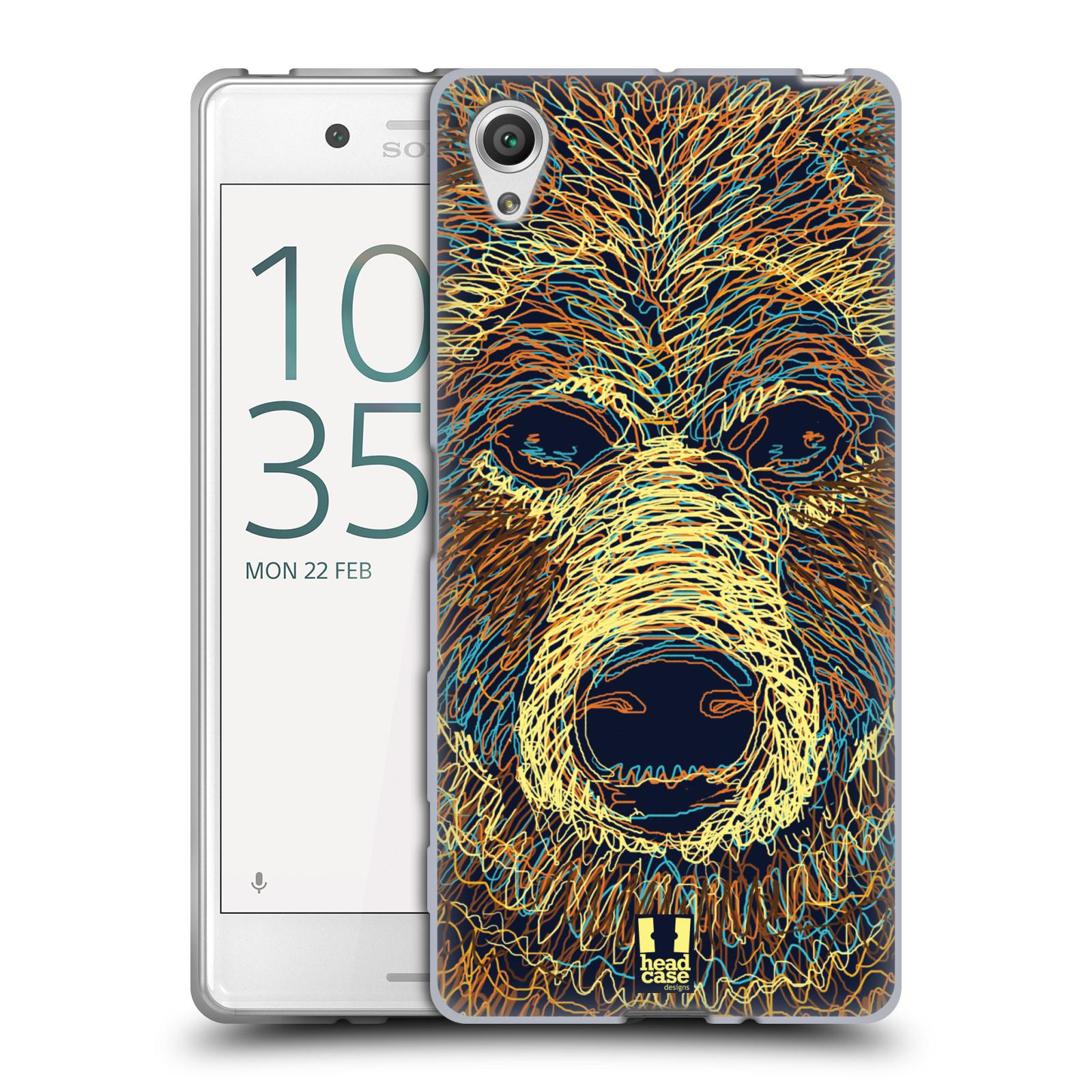 HEAD CASE silikonový obal na mobil Sony Xperia X / X DUAL vzor zvíře čmáranice medvěd
