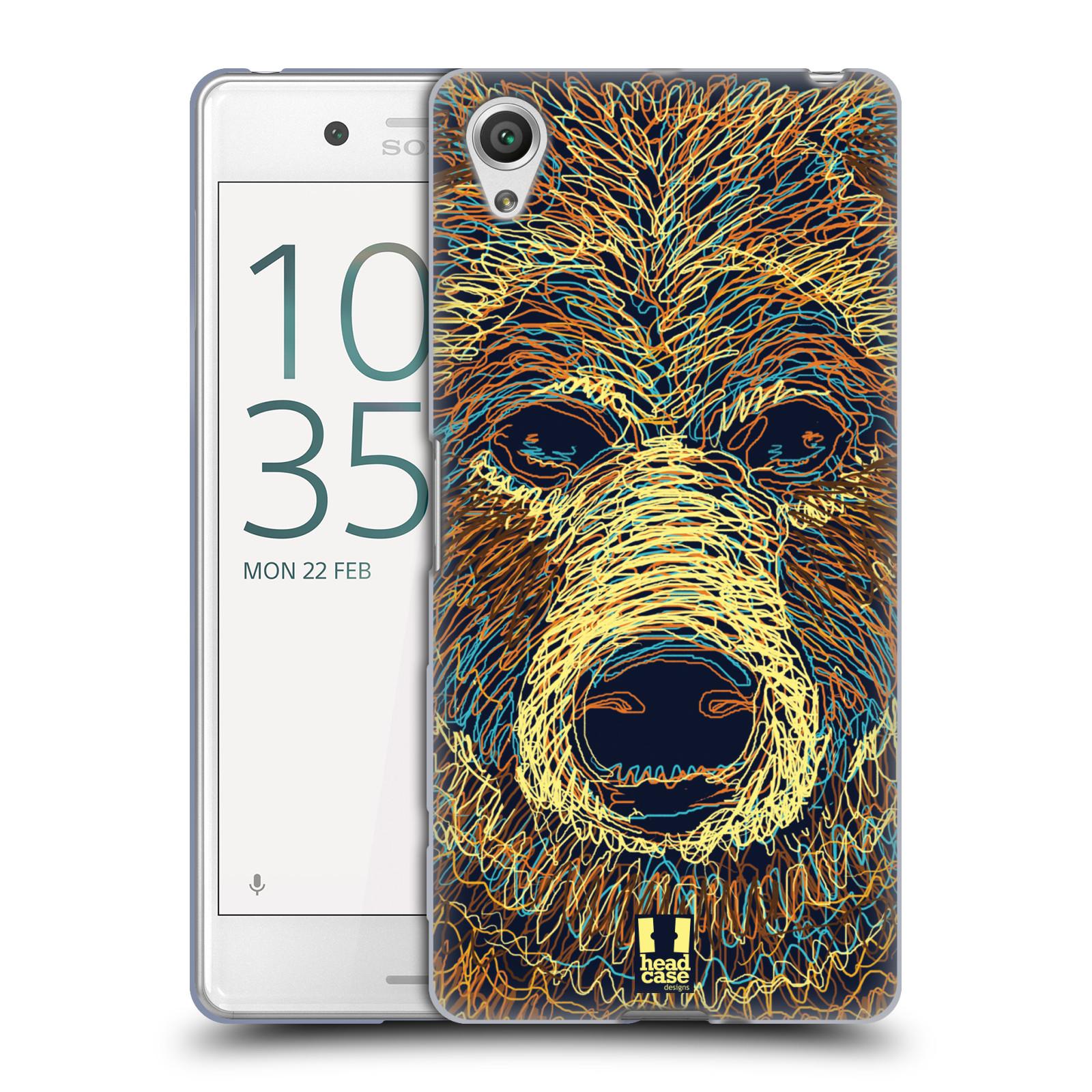 HEAD CASE silikonový obal na mobil Sony Xperia X PERFORMANCE (F8131, F8132) vzor zvíře čmáranice medvěd