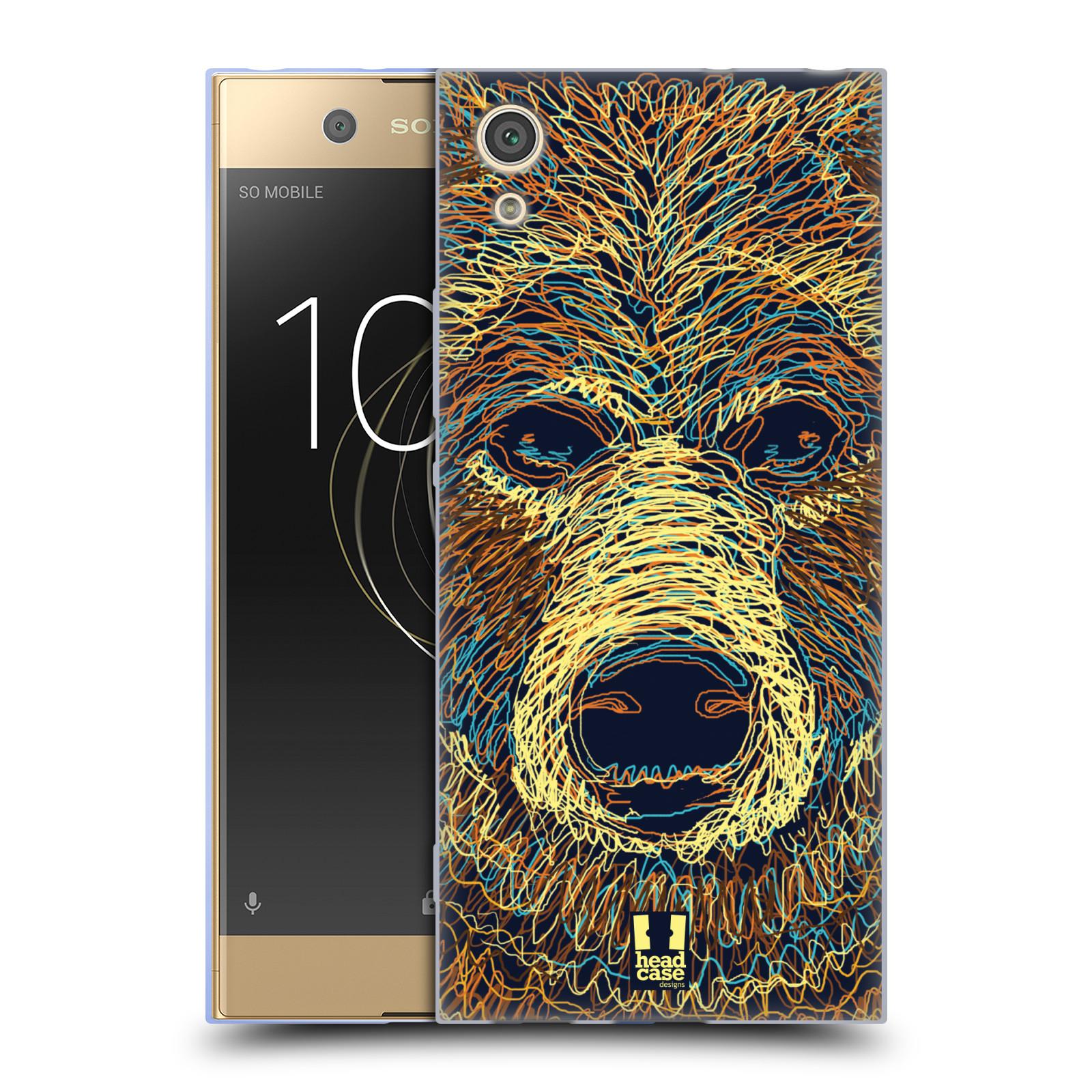 HEAD CASE silikonový obal na mobil Sony Xperia XA1 / XA1 DUAL SIM vzor zvíře čmáranice medvěd