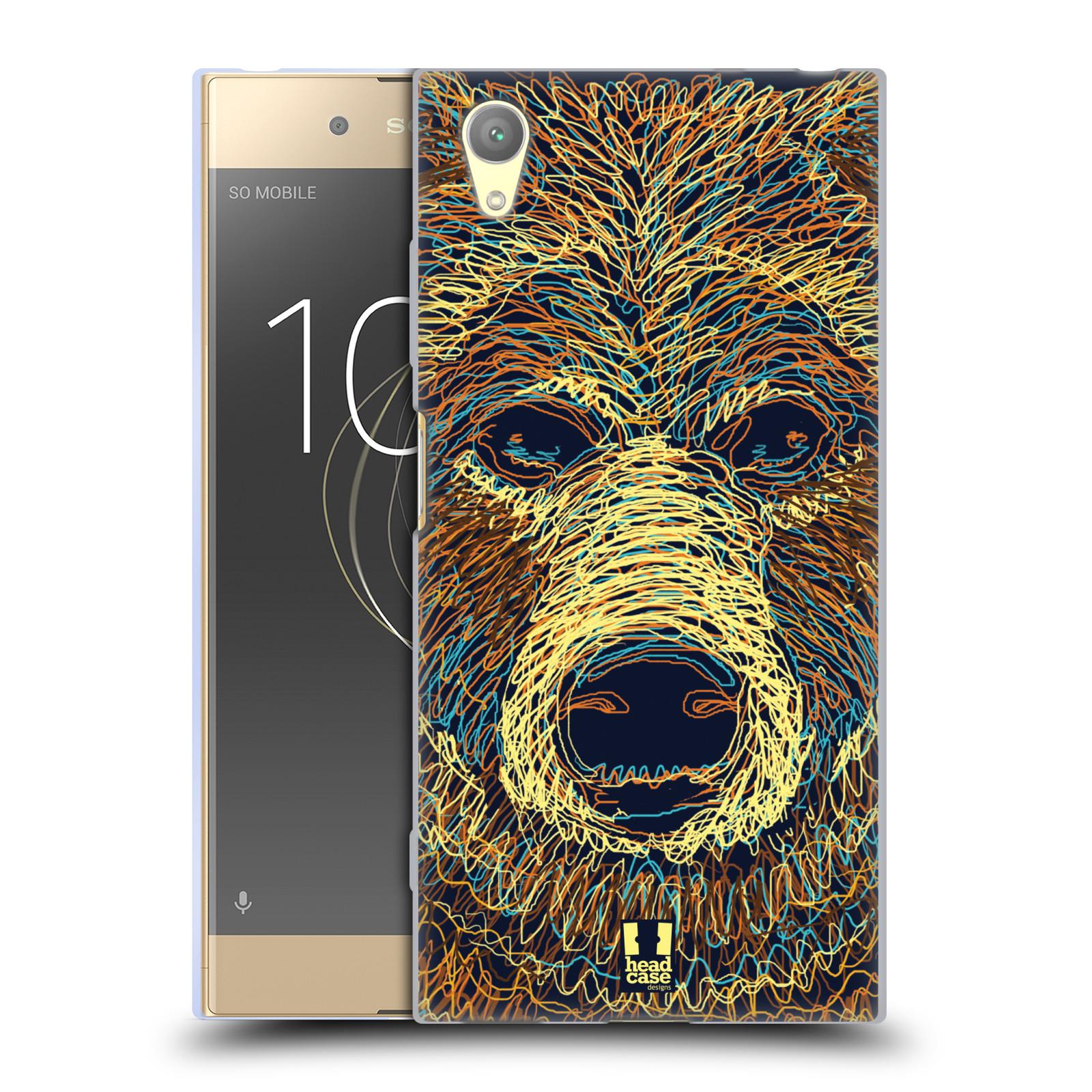HEAD CASE silikonový obal na mobil Sony Xperia XA1 PLUS vzor zvíře čmáranice medvěd