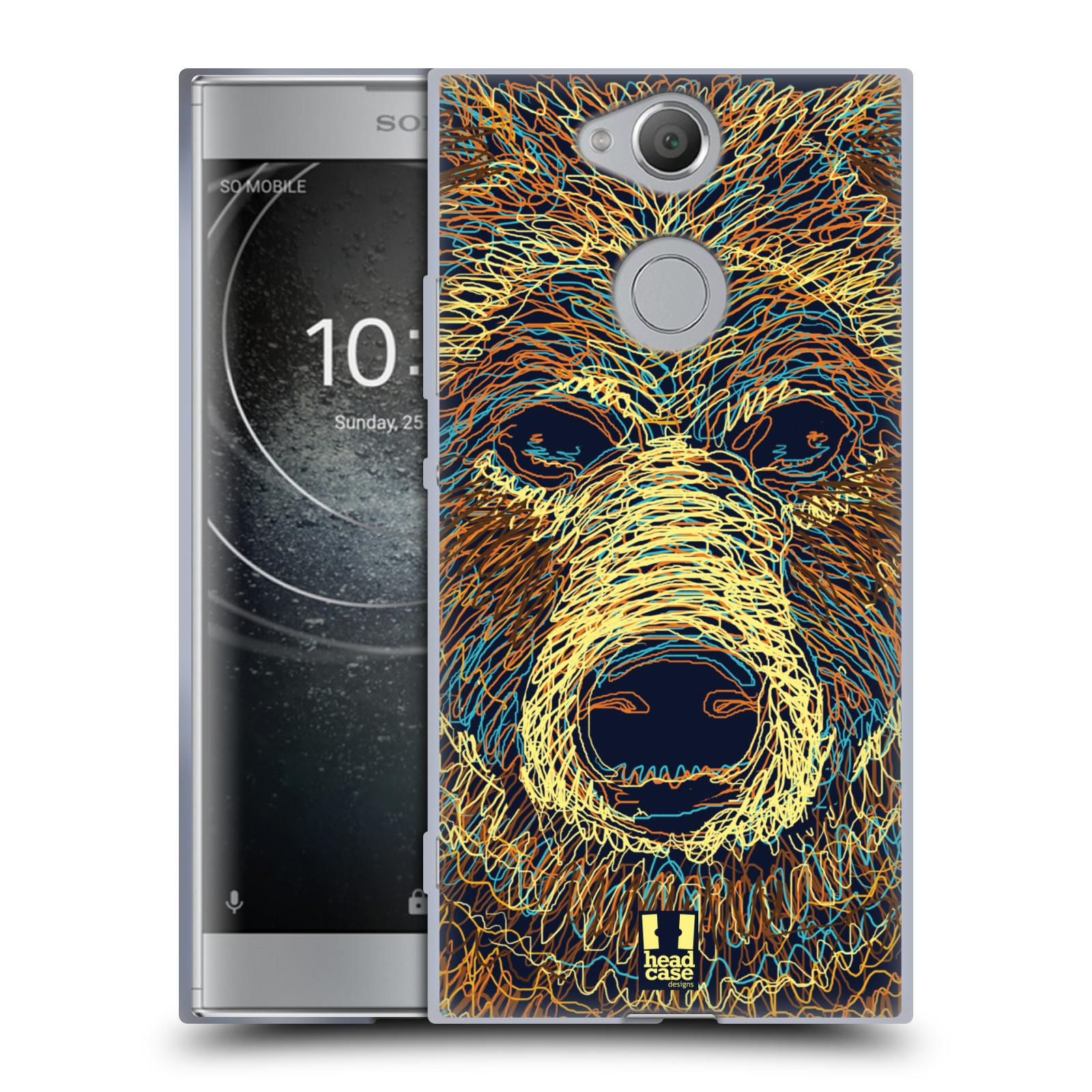 Pouzdro na mobil Sony Xperia XA2 (DUAL SIM, SINGLE SIM) vzor zvíře čmáranice medvěd