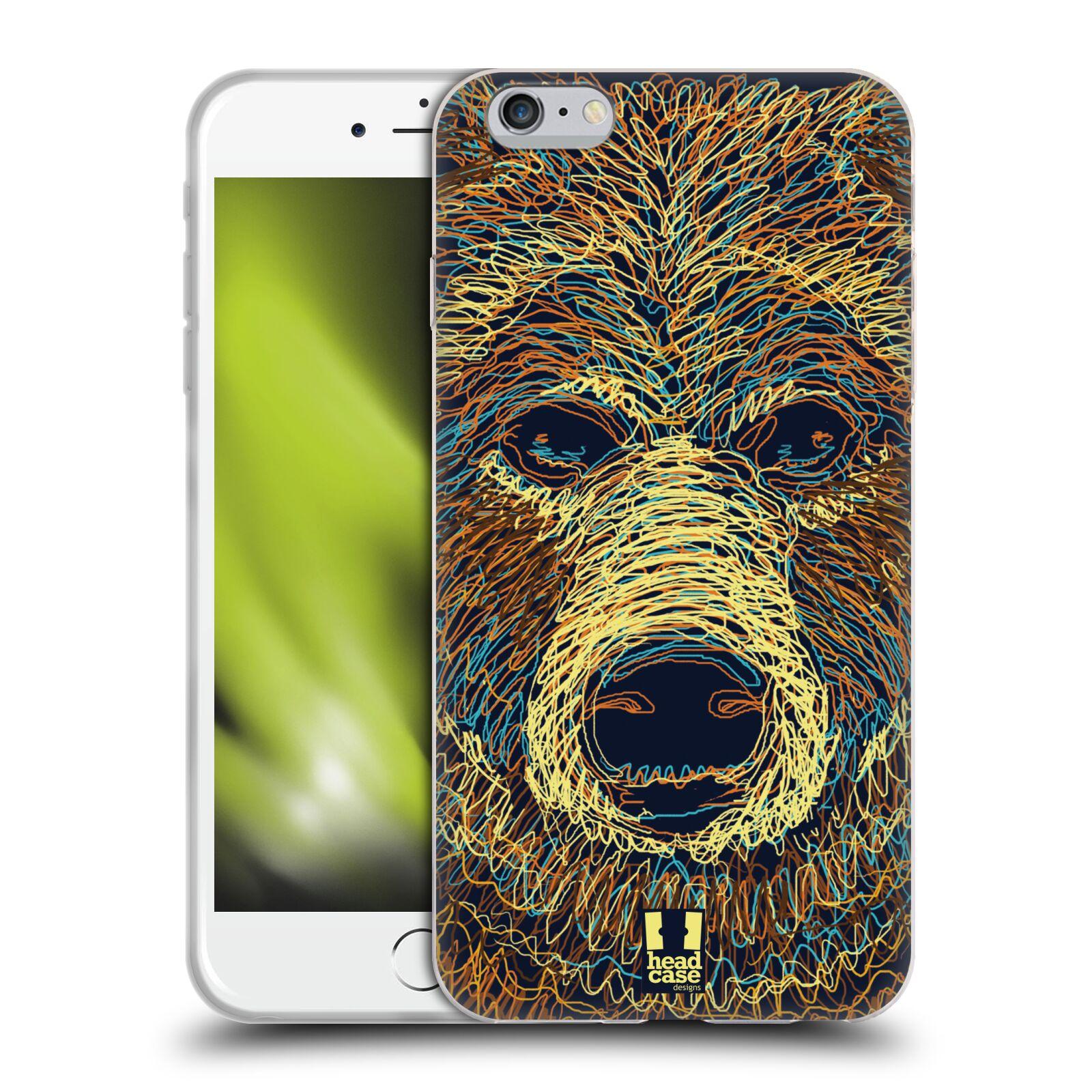 HEAD CASE silikonový obal na mobil Apple Iphone 6 PLUS/ 6S PLUS vzor zvíře čmáranice medvěd