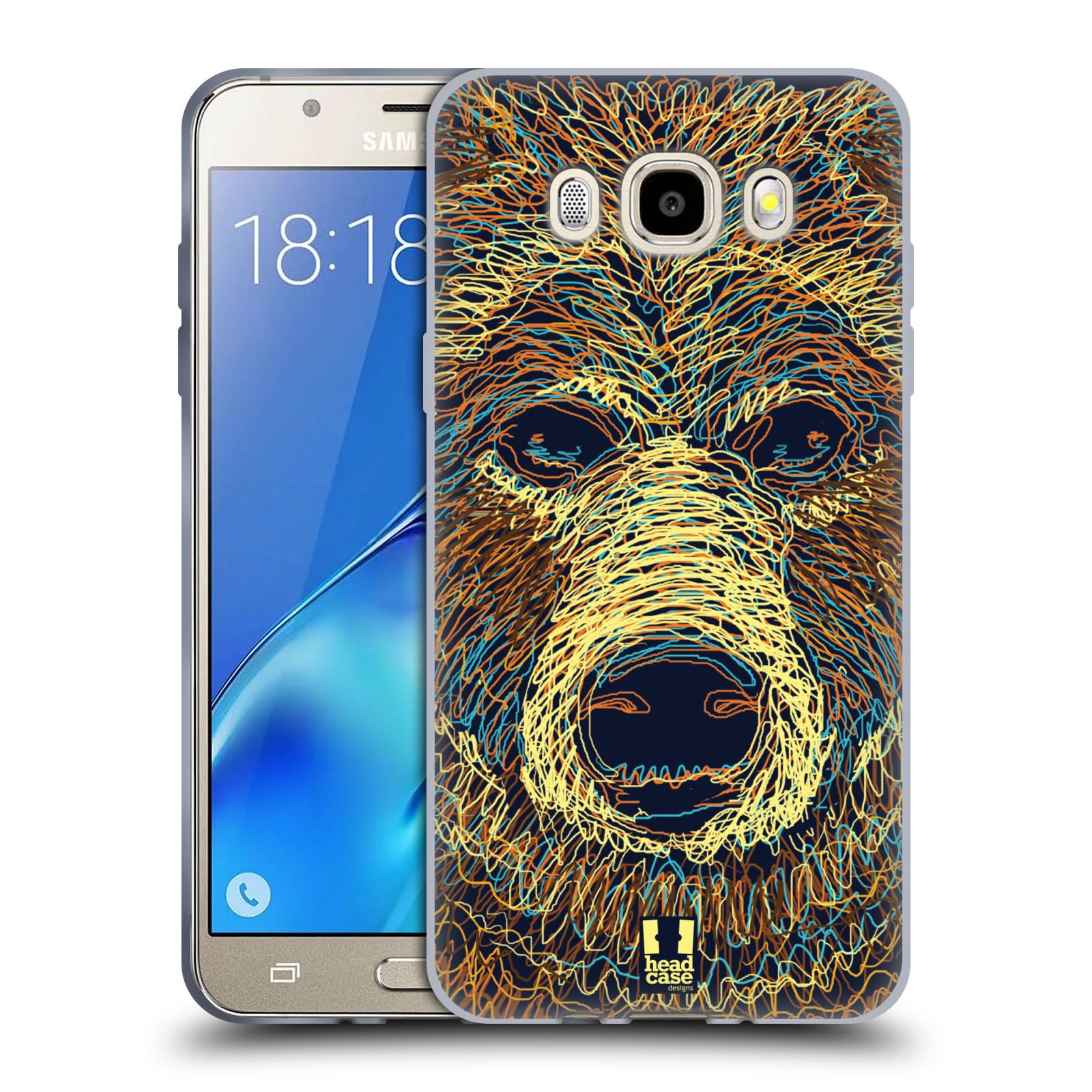 HEAD CASE silikonový obal, kryt na mobil Samsung Galaxy J5 2016, J510, J510F, (J510F DUAL SIM) vzor zvíře čmáranice medvěd