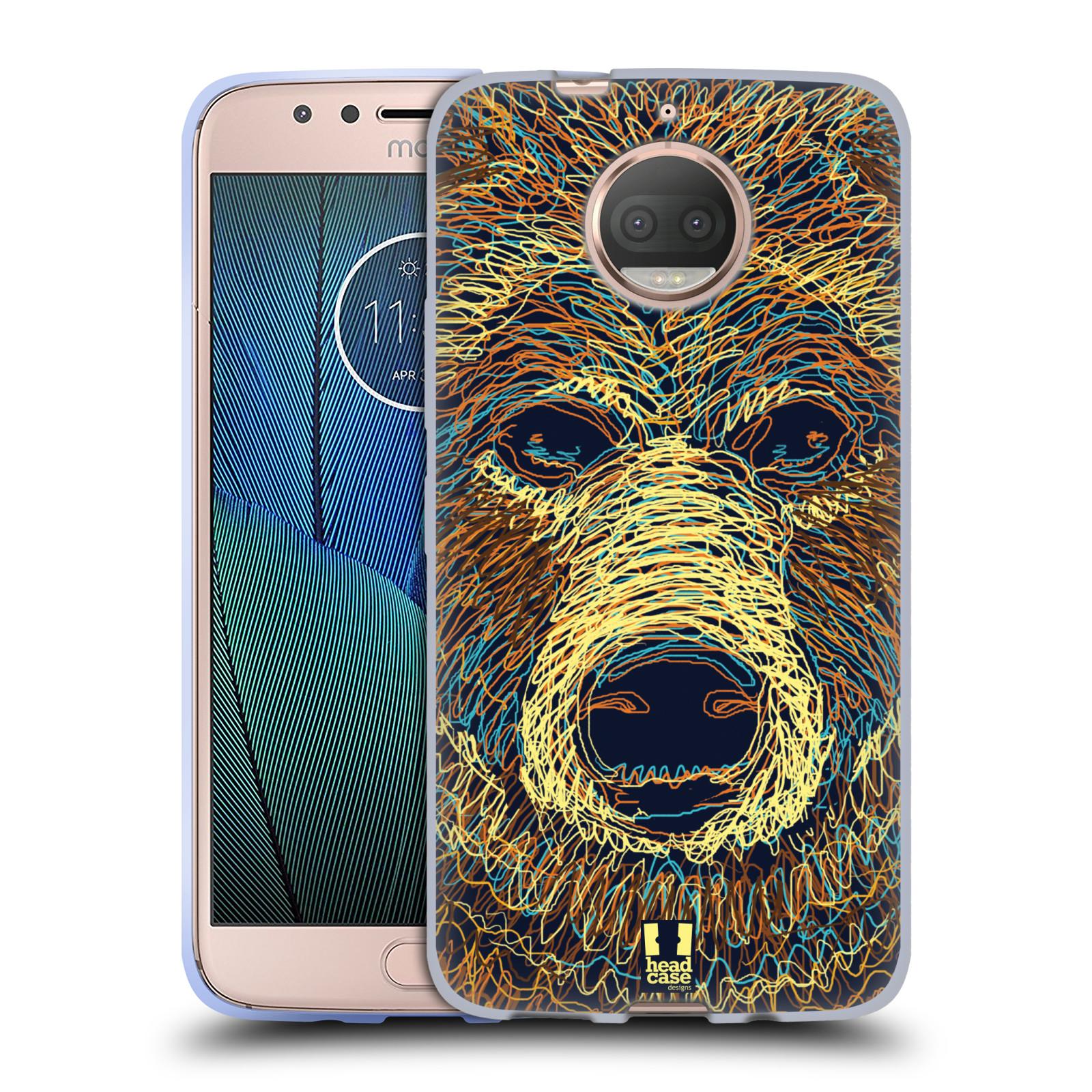 HEAD CASE silikonový obal na mobil Lenovo Moto G5s PLUS vzor zvíře čmáranice medvěd