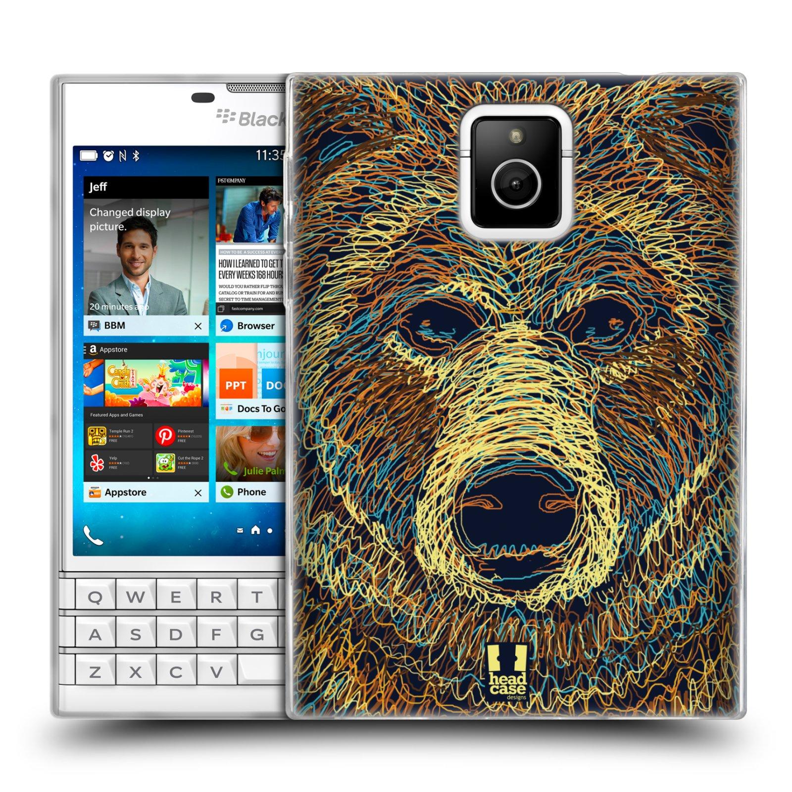 HEAD CASE silikonový obal na mobil Blackberry PASSPORT vzor zvíře čmáranice medvěd