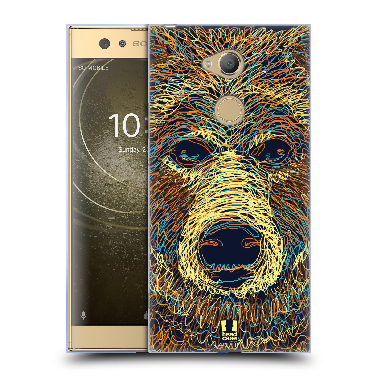 Pouzdro na mobil Sony Xperia XA2 Ultra vzor zvíře čmáranice medvěd