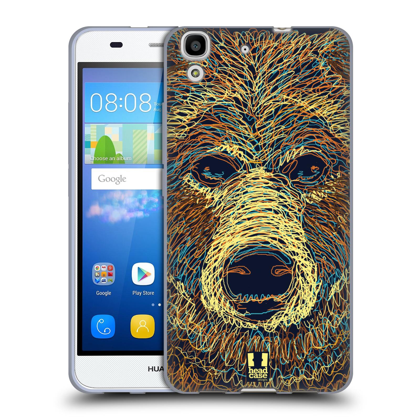 HEAD CASE silikonový obal na mobil HUAWEI Y6 vzor zvíře čmáranice medvěd