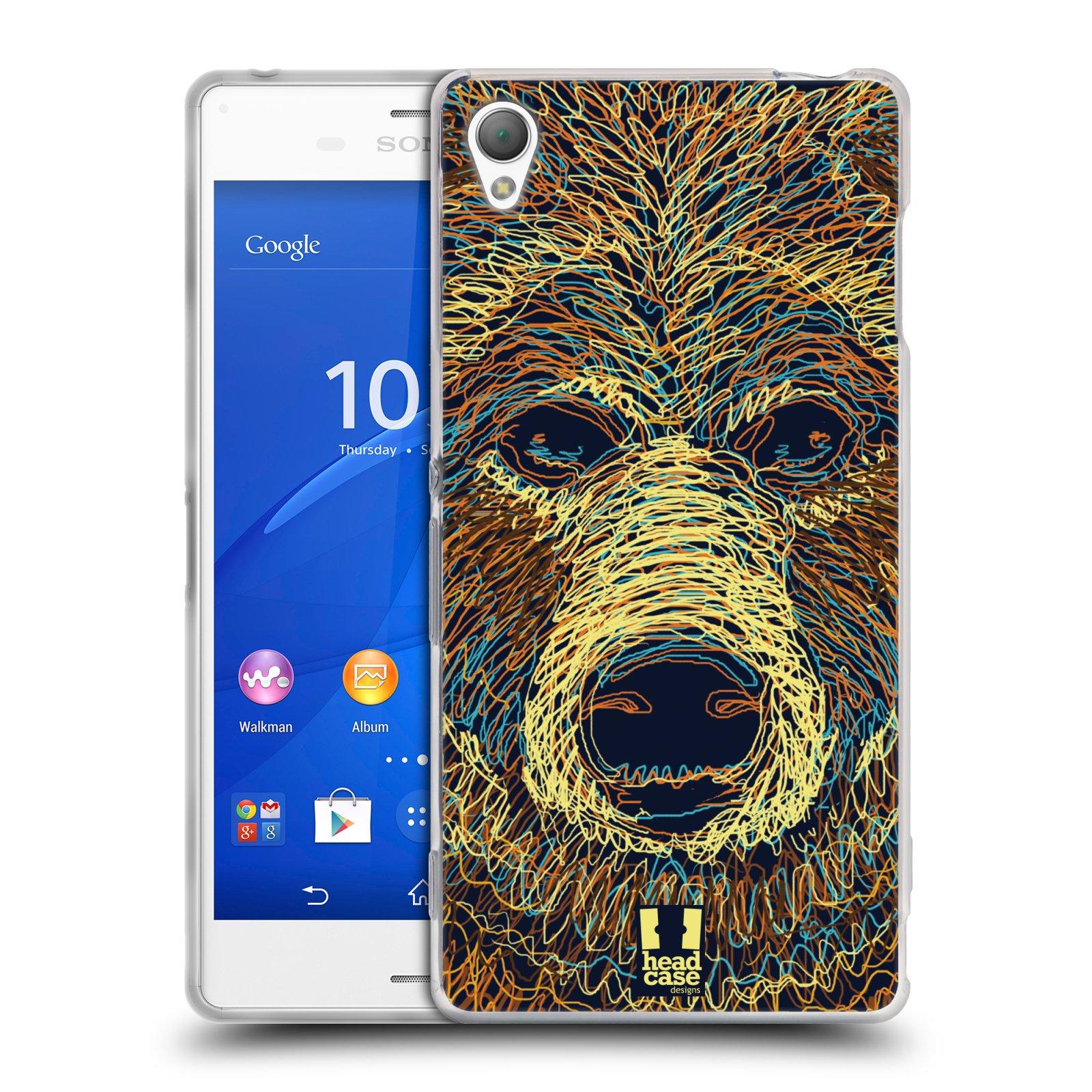 HEAD CASE silikonový obal na mobil Sony Xperia Z3 vzor zvíře čmáranice medvěd