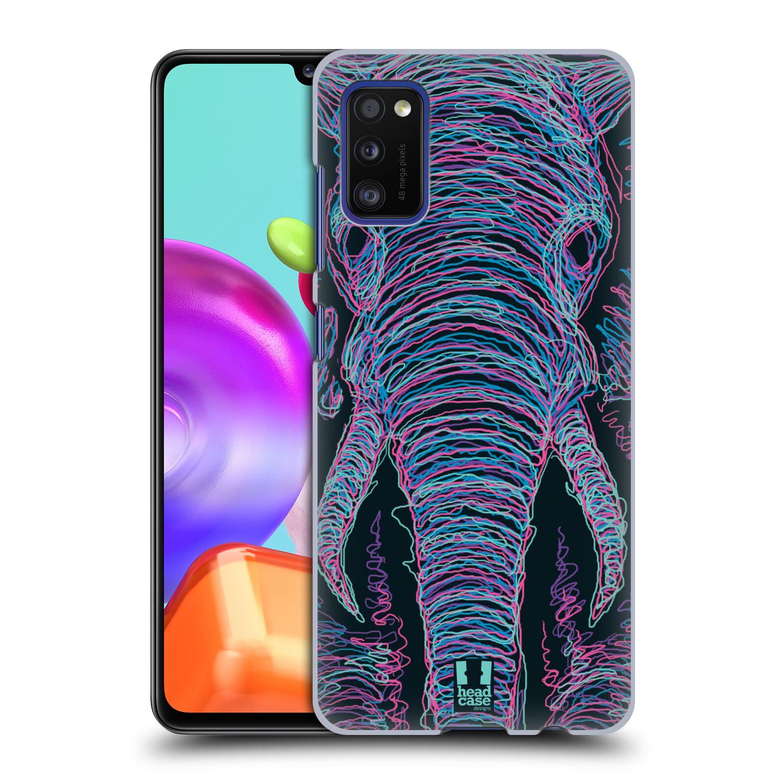 Zadní kryt na mobil Samsung Galaxy A41 vzor zvíře čmáranice slon