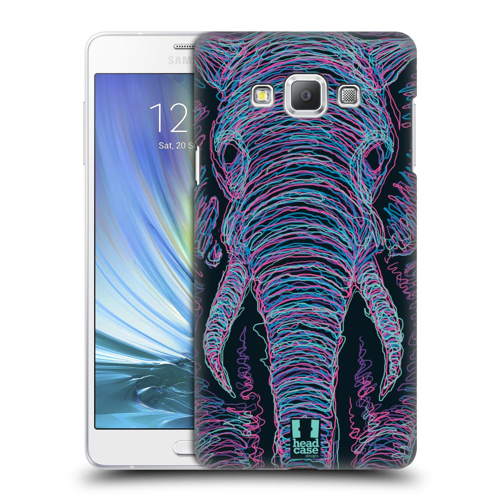 HEAD CASE plastový obal na mobil SAMSUNG GALAXY A7 vzor zvíře čmáranice slon