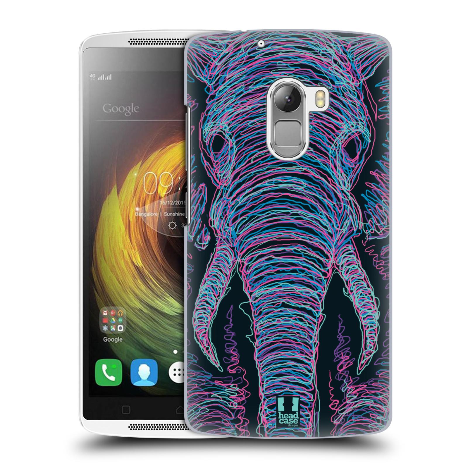 HEAD CASE pevný plastový obal na mobil LENOVO A7010 / A7010 DUAL / K4 Note / Vibe X3 lite vzor zvíře čmáranice slon
