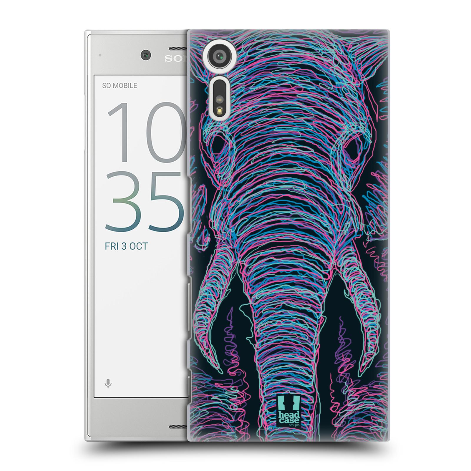 HEAD CASE plastový obal na mobil Sony Xperia XZ vzor zvíře čmáranice slon