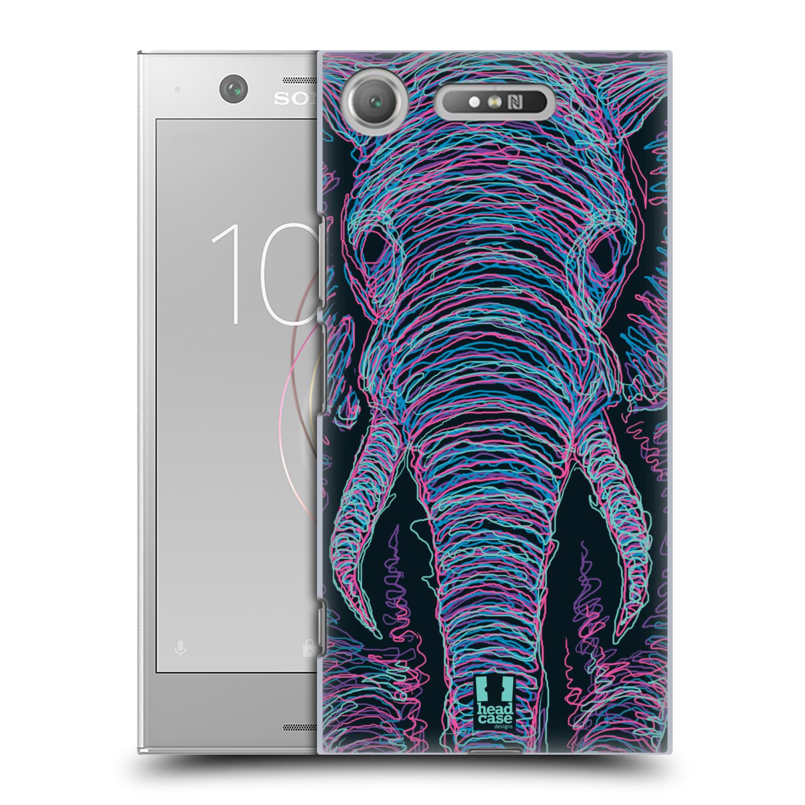 HEAD CASE plastový obal na mobil Sony Xperia XZ1 vzor zvíře čmáranice slon
