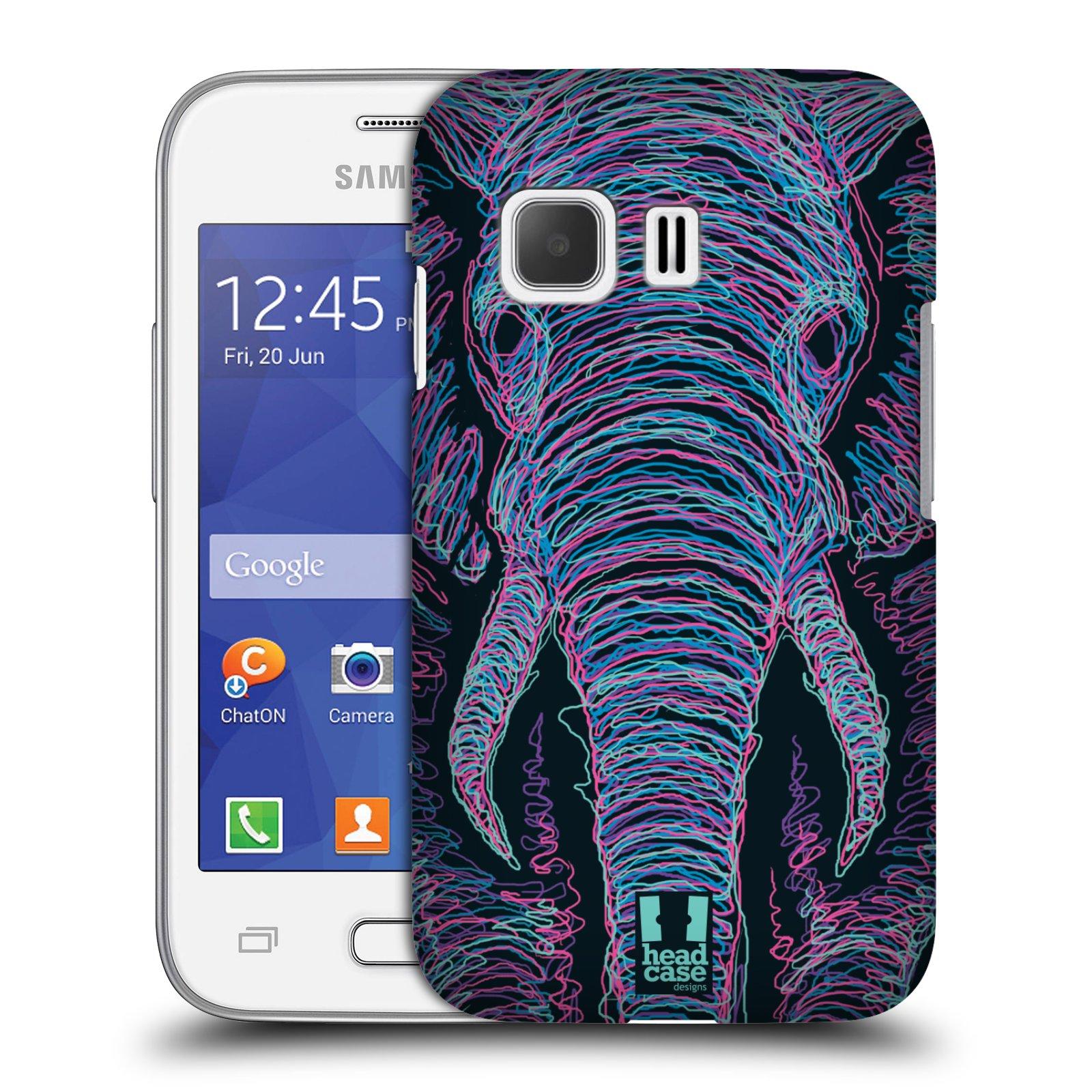 HEAD CASE plastový obal na mobil SAMSUNG Galaxy Young 2 (G130) vzor zvíře čmáranice slon