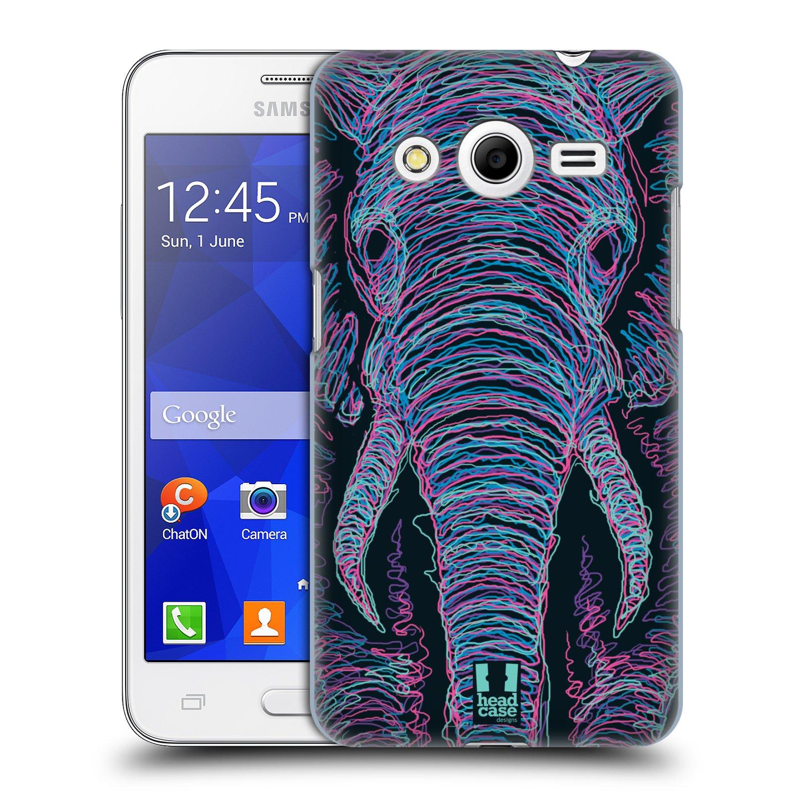 HEAD CASE plastový obal na mobil SAMSUNG GALAXY Core 2 (G355H) vzor zvíře čmáranice slon