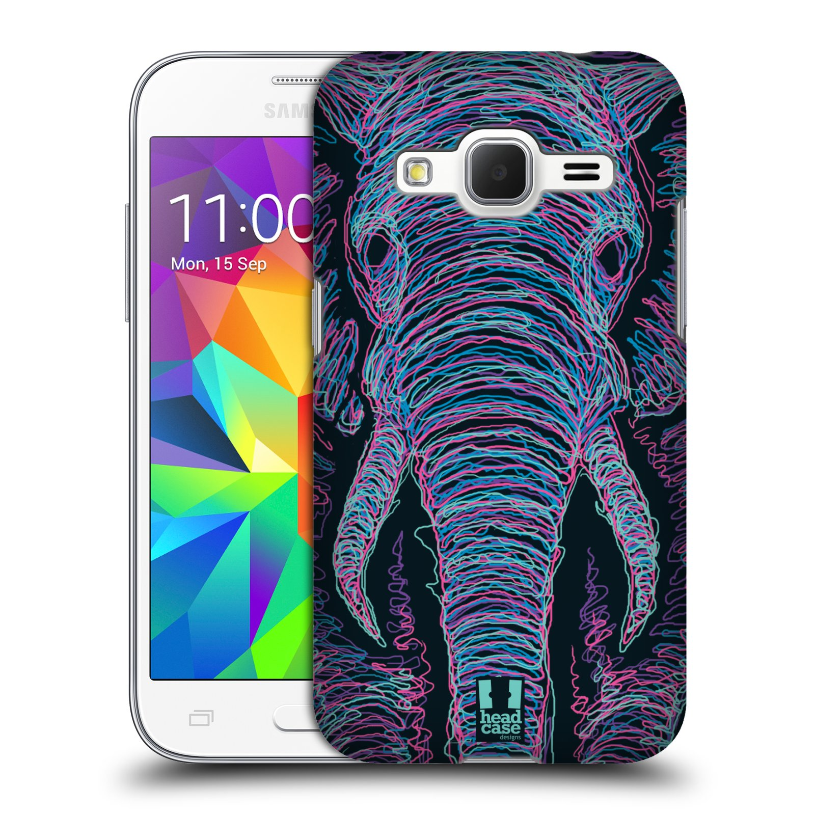 HEAD CASE plastový obal na mobil SAMSUNG GALAXY Core Prime (Core Prime VE) vzor zvíře čmáranice slon