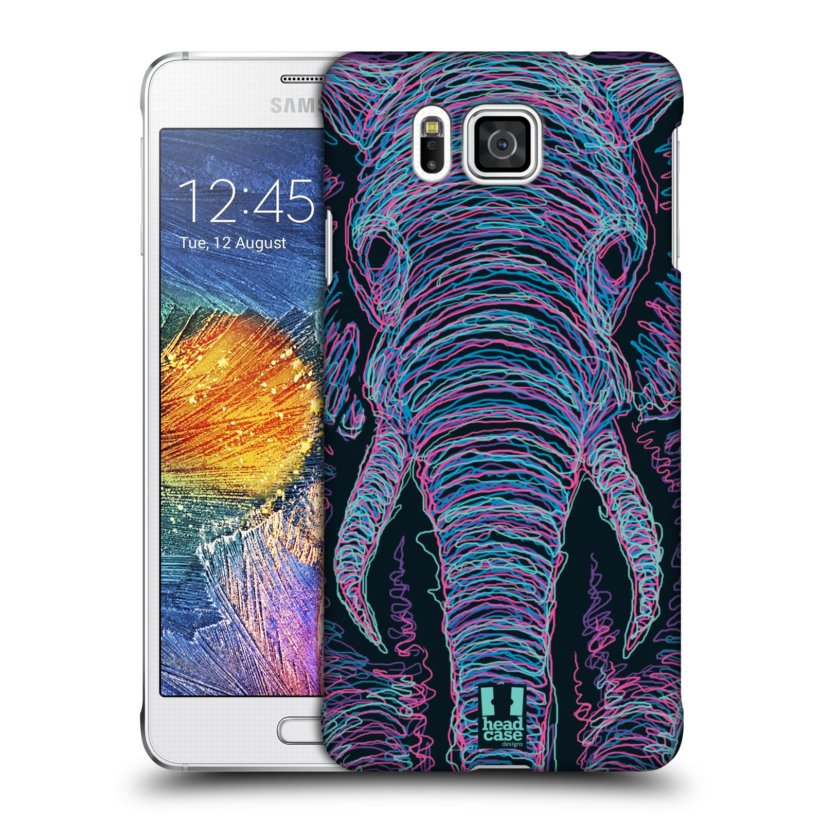 HEAD CASE plastový obal na mobil SAMSUNG Galaxy Alpha (G850) vzor zvíře čmáranice slon