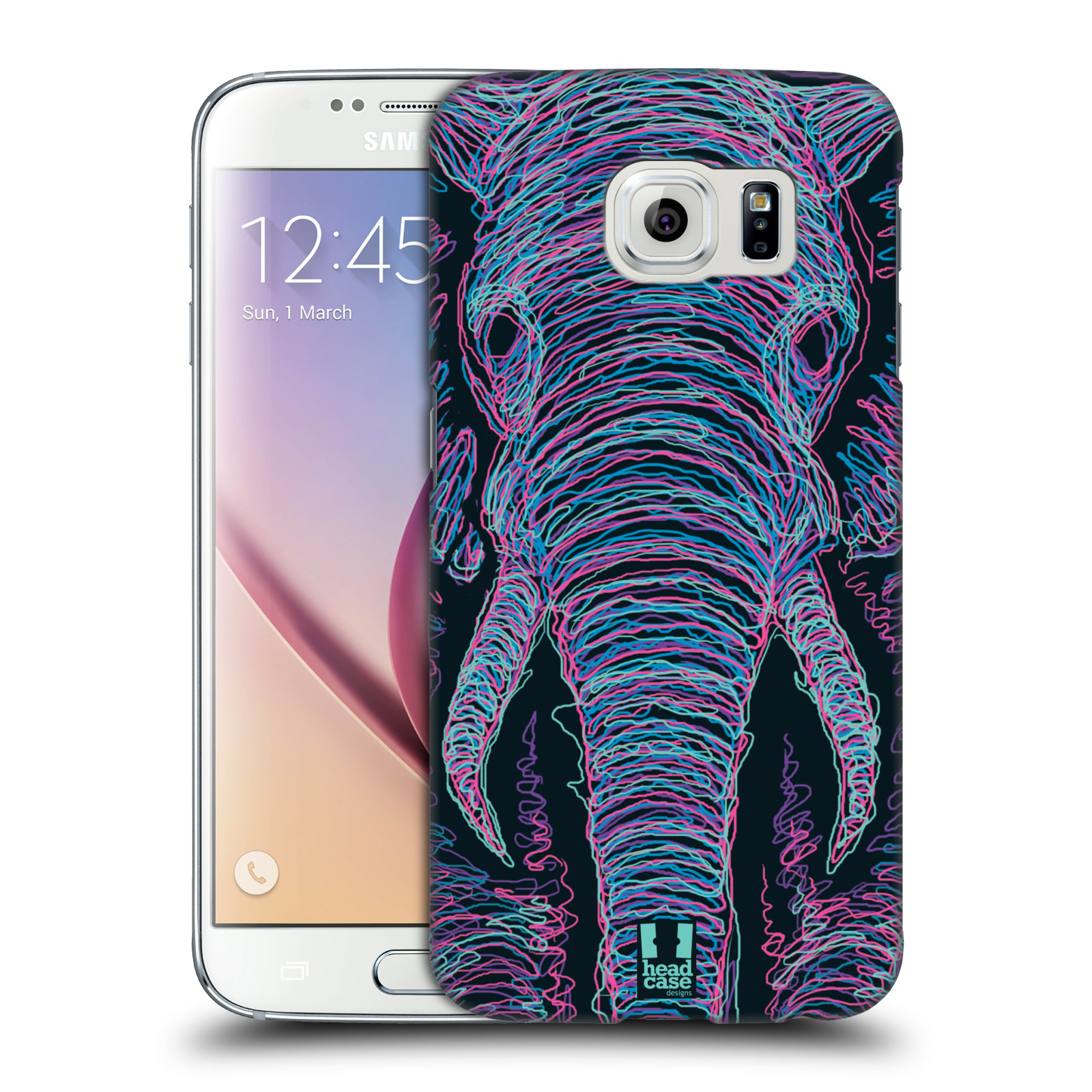 HEAD CASE plastový obal na mobil SAMSUNG Galaxy S6 (G9200, G920F) vzor zvíře čmáranice slon