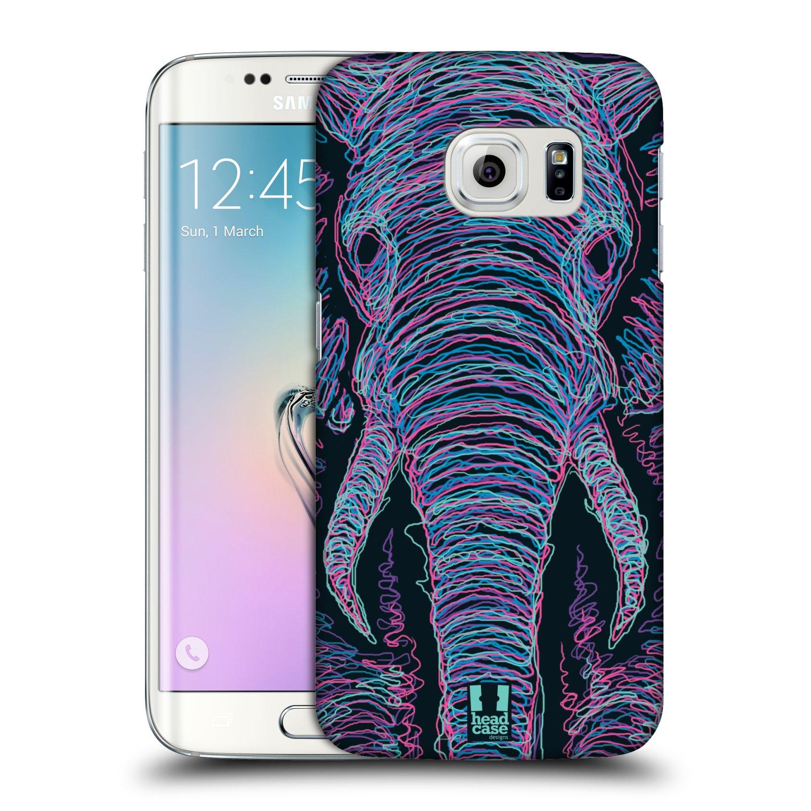 HEAD CASE plastový obal na mobil SAMSUNG Galaxy S6 EDGE (G9250, G925, G925F) vzor zvíře čmáranice slon
