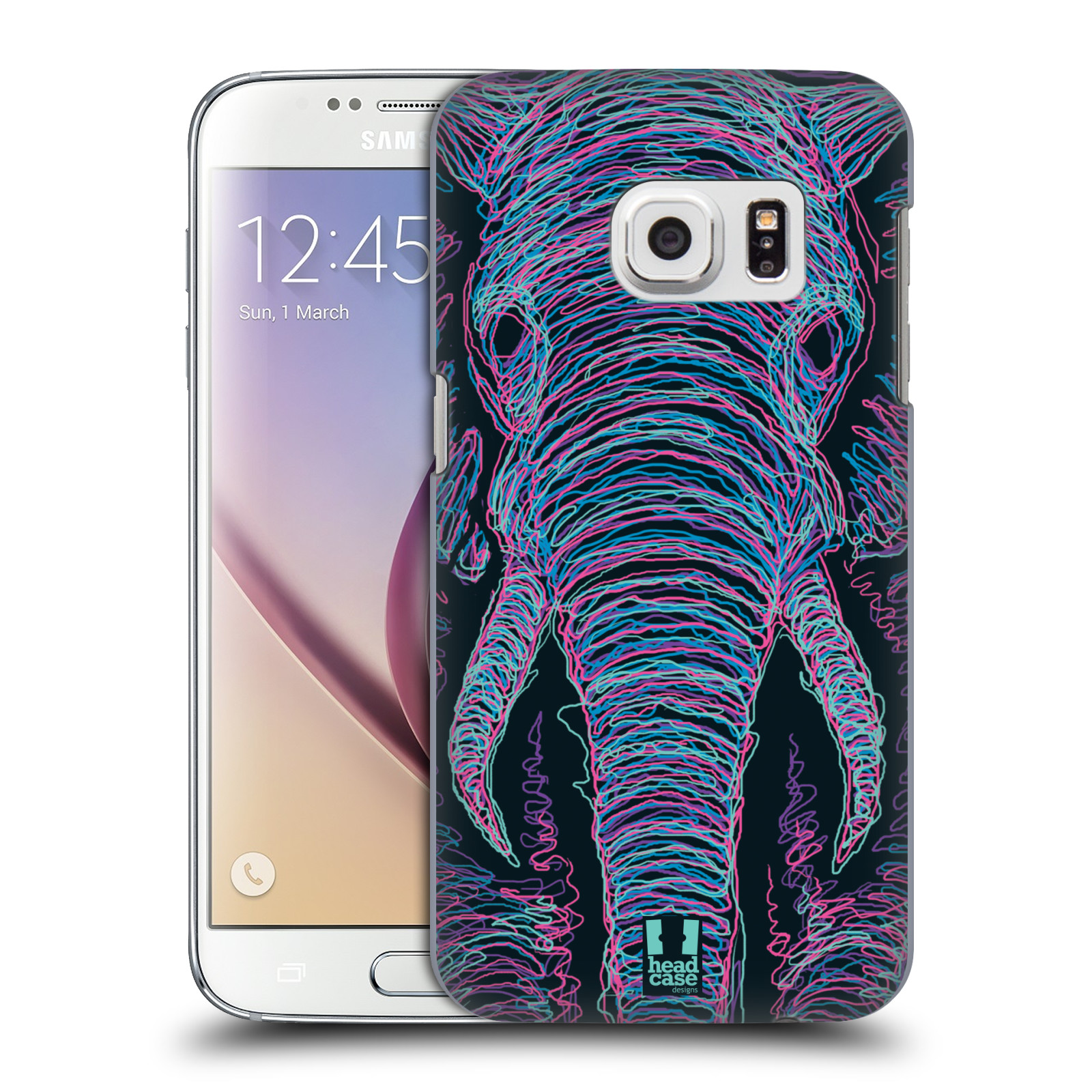HEAD CASE plastový obal na mobil SAMSUNG GALAXY S7 vzor zvíře čmáranice slon