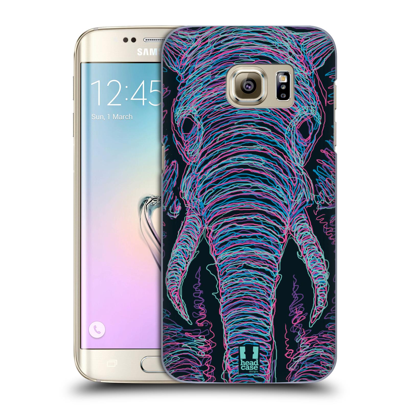 HEAD CASE plastový obal na mobil SAMSUNG GALAXY S7 EDGE vzor zvíře čmáranice slon