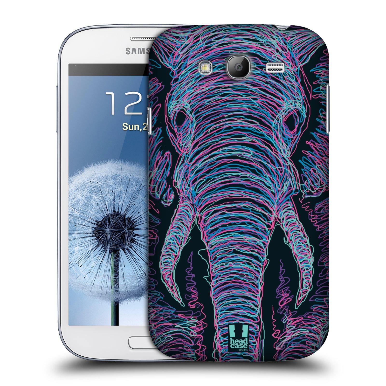 HEAD CASE plastový obal na mobil SAMSUNG GALAXY Grand i9080 vzor zvíře čmáranice slon