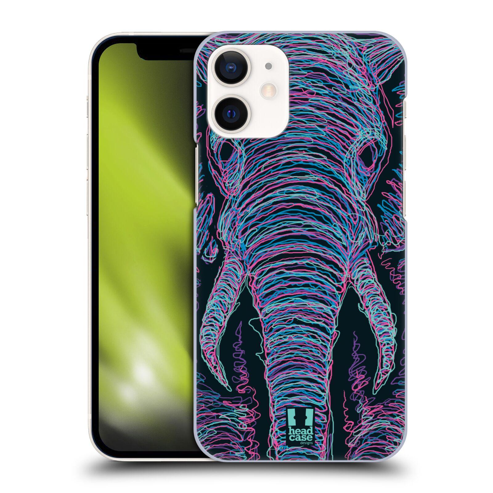 Plastový obal na mobil Apple Iphone 12 MINI vzor zvíře čmáranice slon