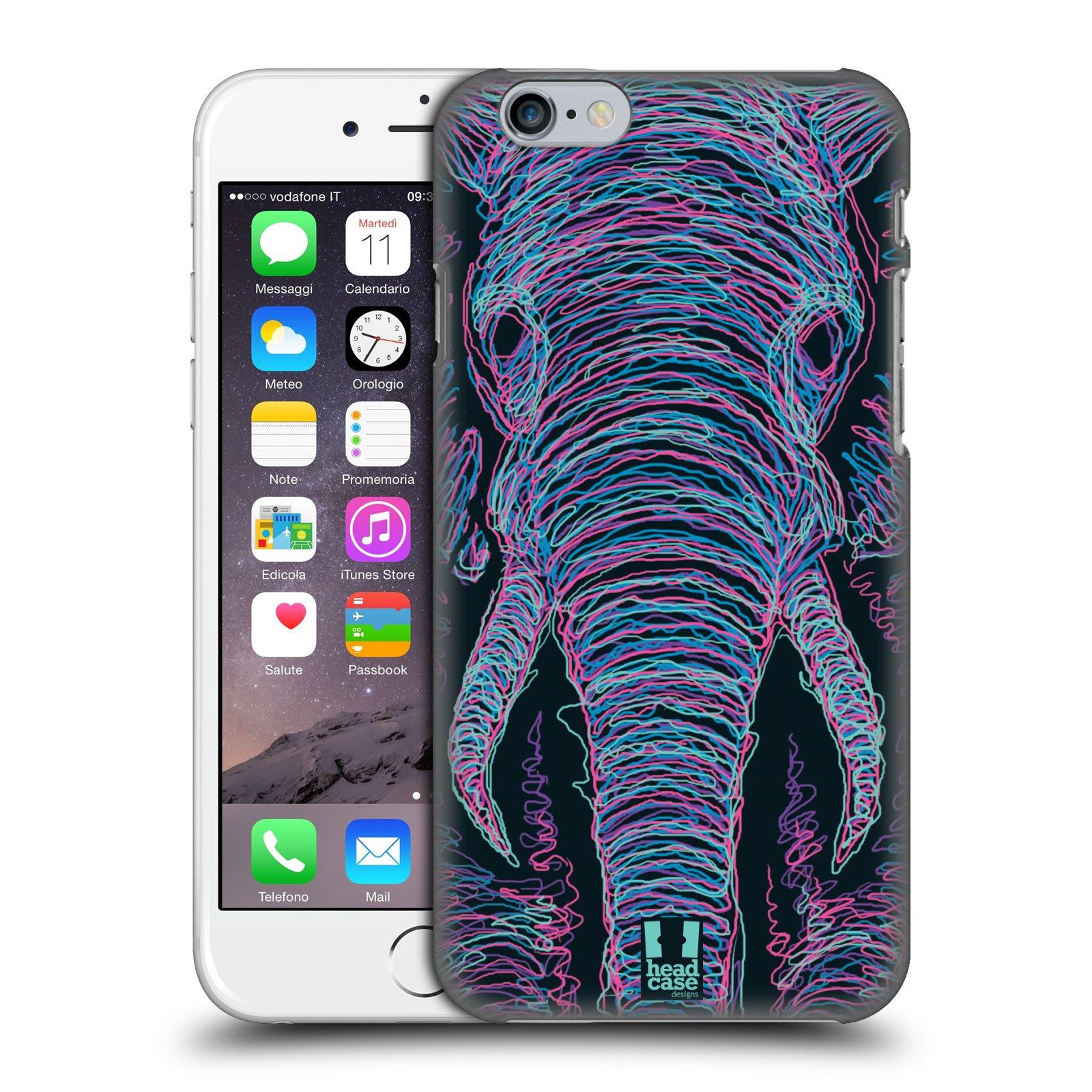 Plastové pouzdro pro mobil Apple Iphone 6/6S vzor zvíře čmáranice slon