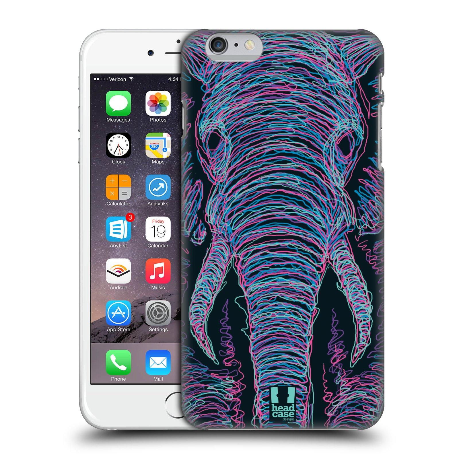 Plastové pouzdro pro mobil Apple Iphone 6 PLUS / 6S PLUS vzor zvíře čmáranice slon