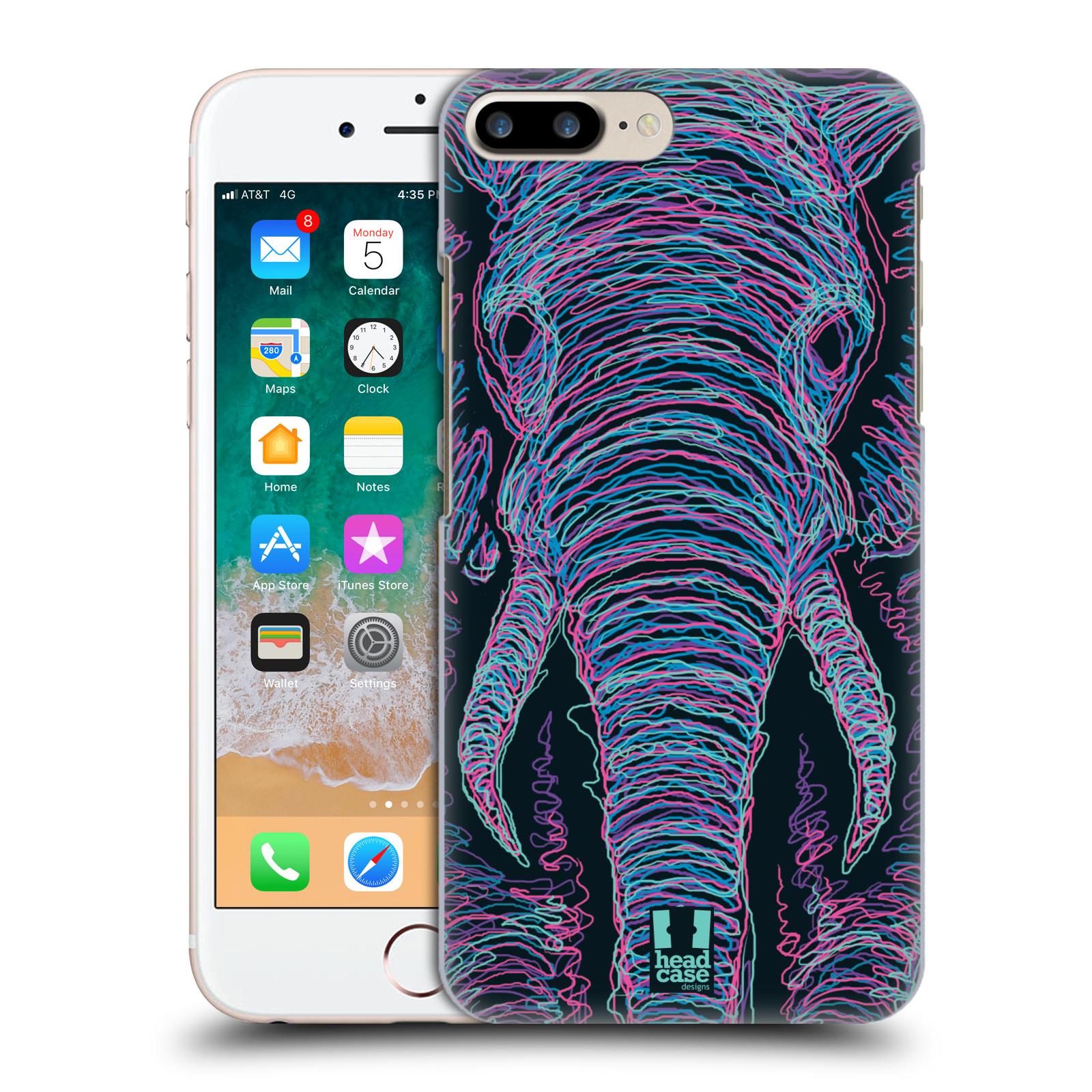 HEAD CASE plastový obal na mobil Apple Iphone 7 PLUS vzor zvíře čmáranice slon