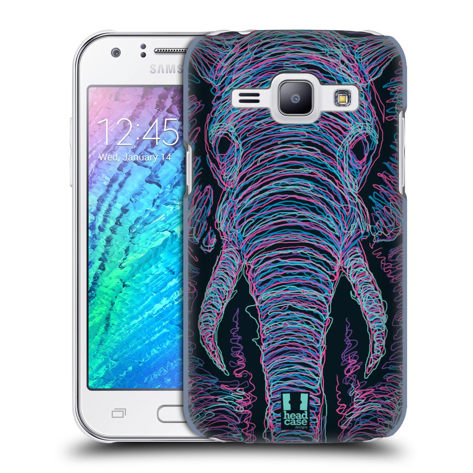 HEAD CASE plastový obal na mobil SAMSUNG Galaxy J1, J100 vzor zvíře čmáranice slon