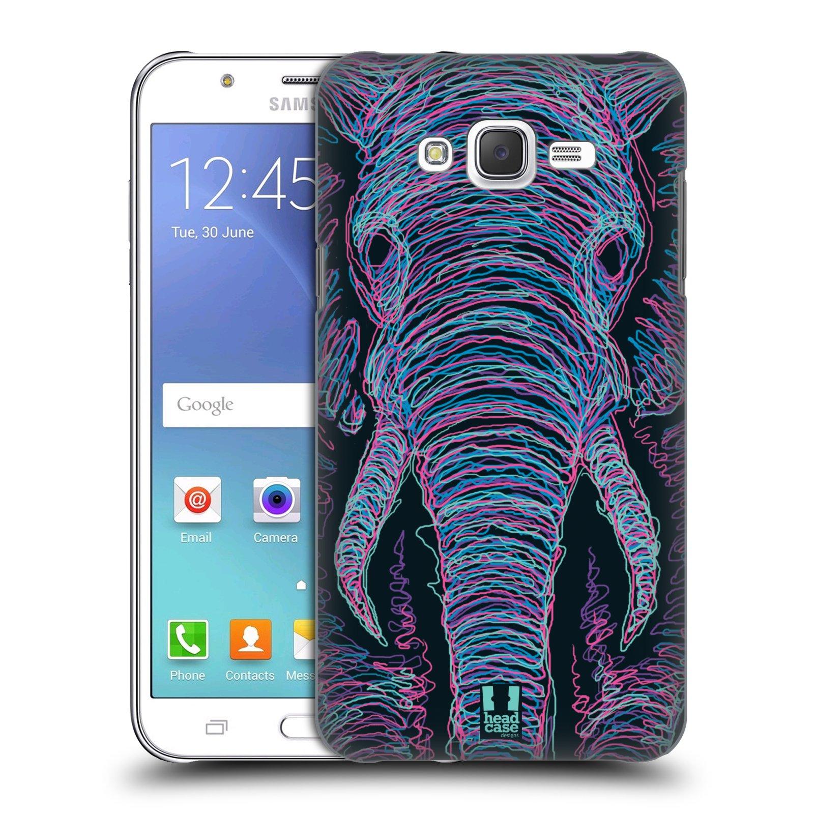 HEAD CASE plastový obal na mobil SAMSUNG Galaxy J7, J700 vzor zvíře čmáranice slon