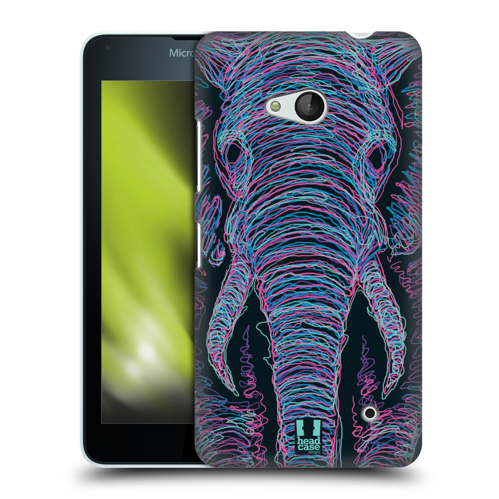 HEAD CASE plastový obal na mobil Nokia Lumia 640 vzor zvíře čmáranice slon