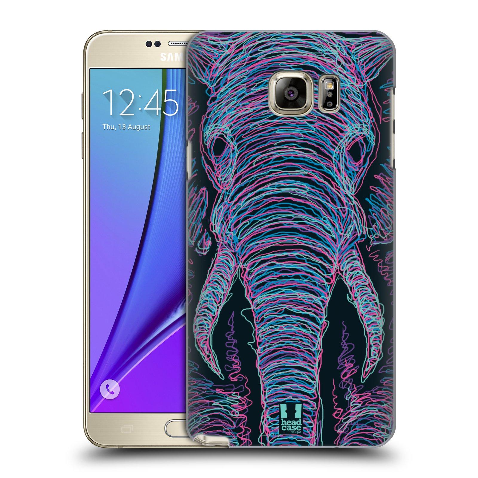 HEAD CASE plastový obal na mobil SAMSUNG Galaxy Note 5 (N920) vzor zvíře čmáranice slon